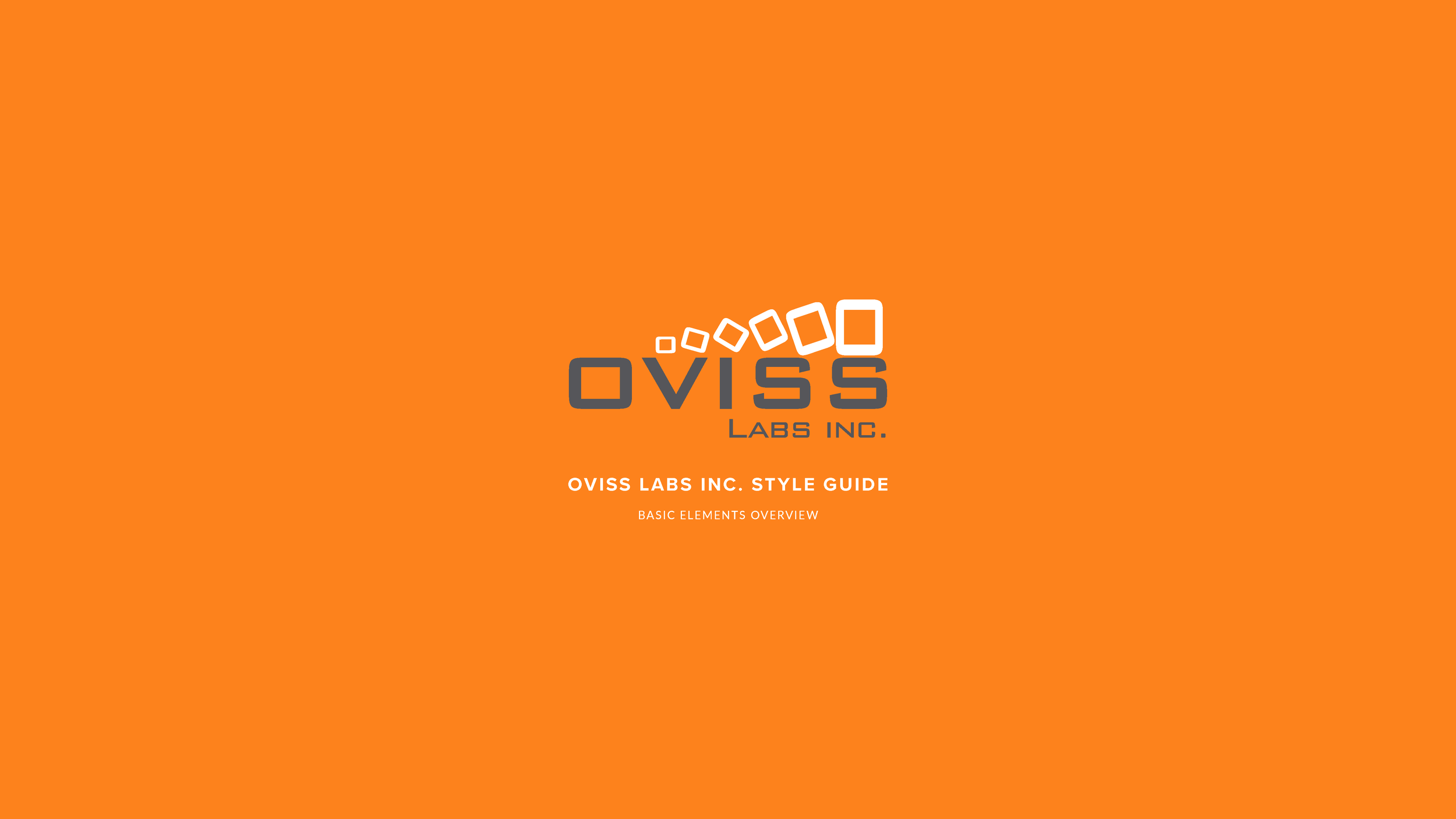 OVISS LABS STYLE GUIDE SLIDE DECK REDESIGN