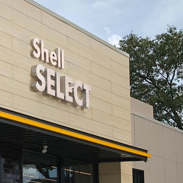 SHELL SELECT - We used architecture to visually disrupt consumer's usual expectations of what they'll find at a gas station including adding outdoor seating to signal that this is a destination for food and beverage.VIEW BELOW
