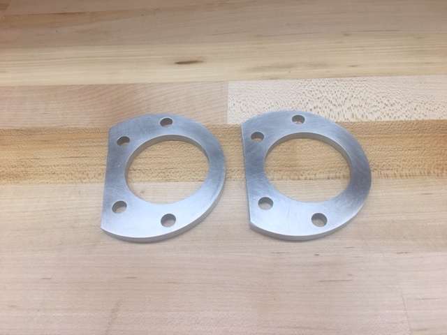 "Custom aluminum 0.25"" ball joint spacers"