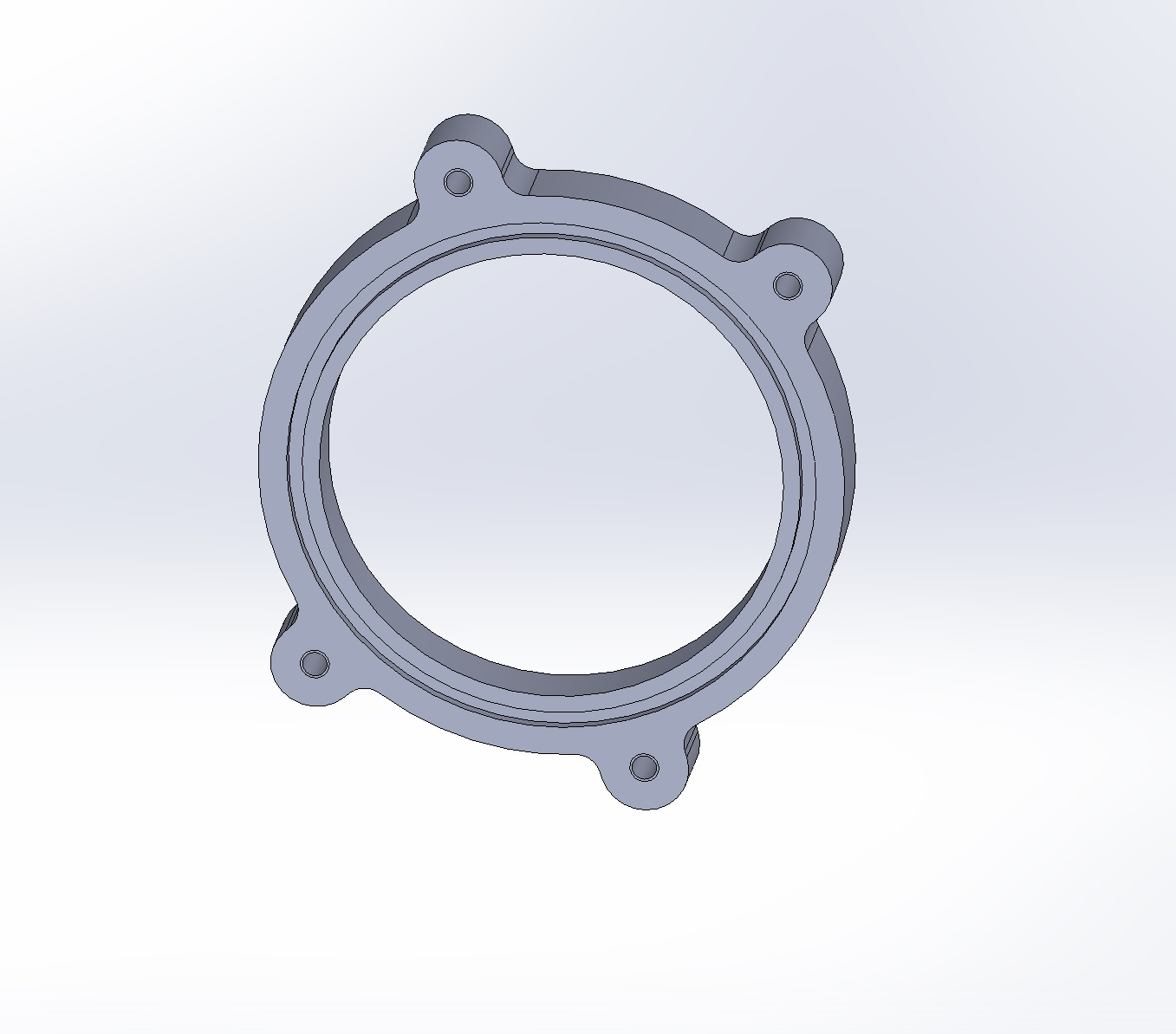 LT5 flange; o-ring seals against throttle body