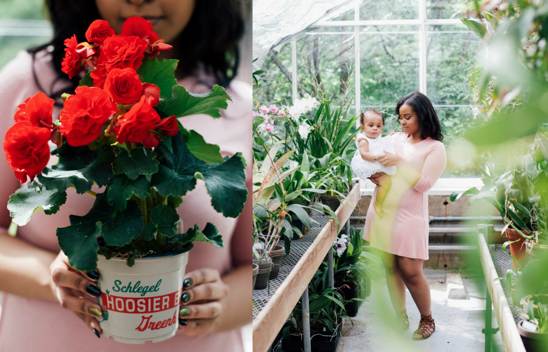 Mother and Baby Photo Session Greenhouse - Again We Say Rejoice Photography.jpeg