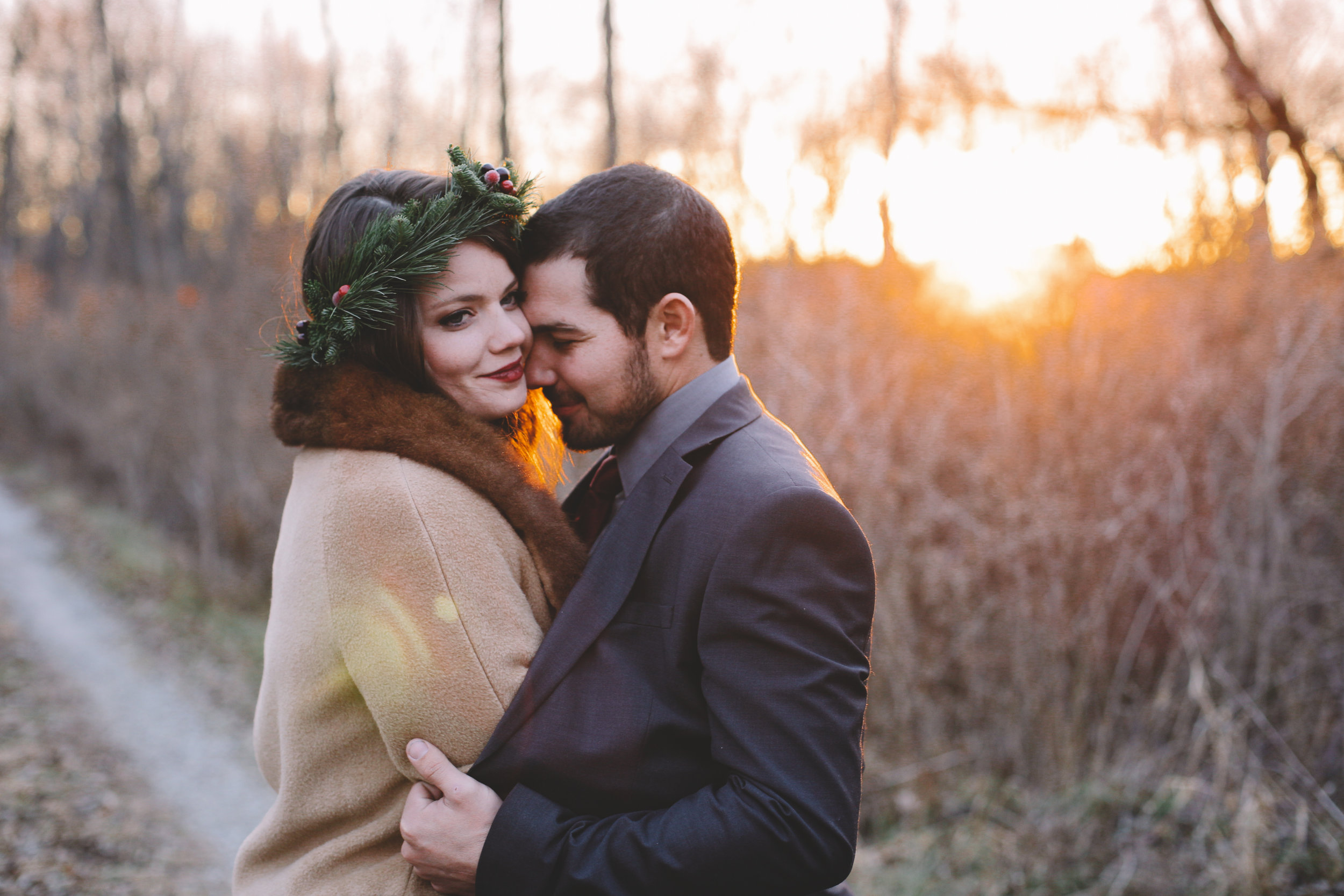 Dillon + Courtney's Cozy Winter Vows