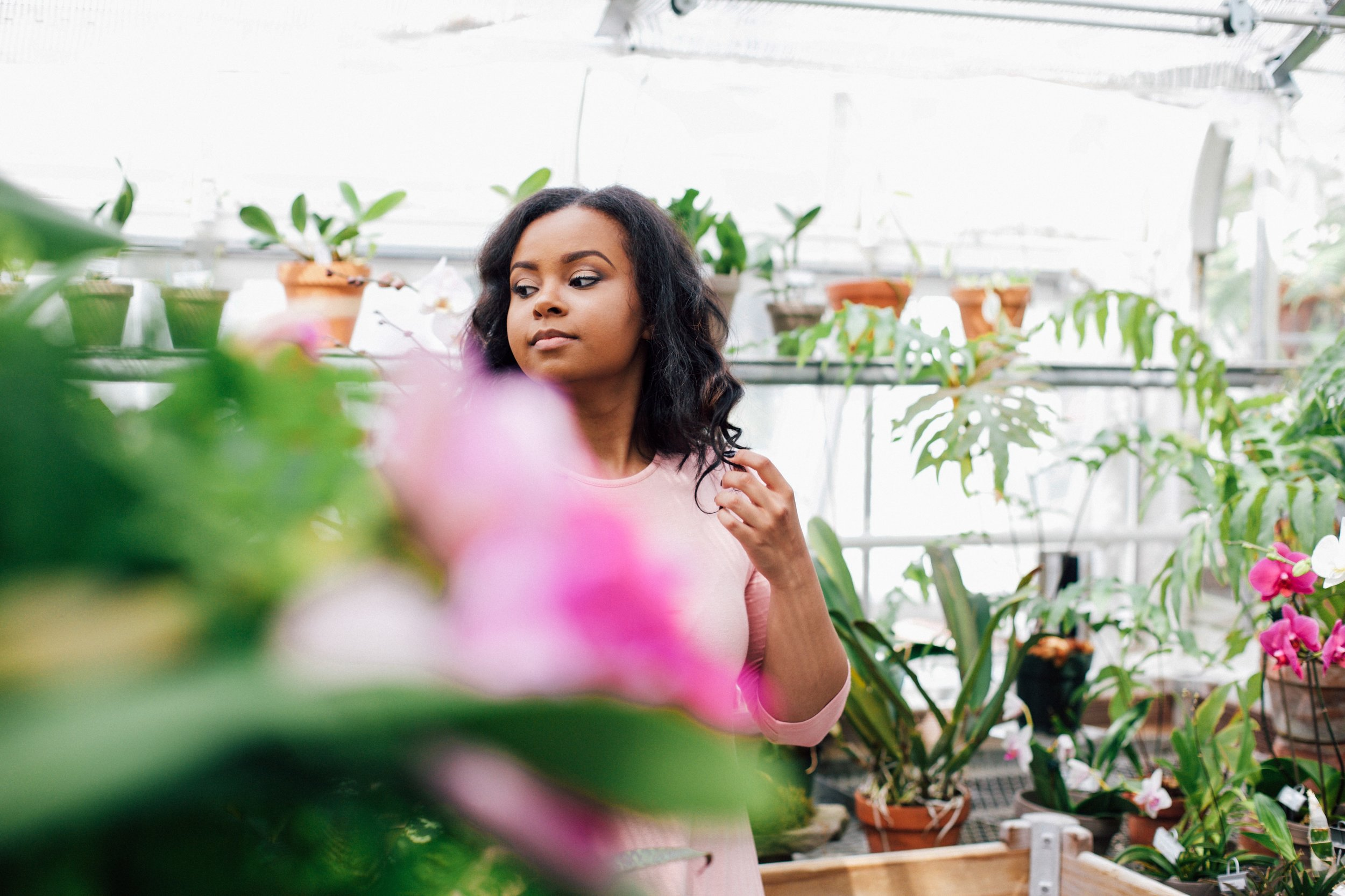 Jaelyn's Greenhouse Senior Session {Indianapolis, IN}