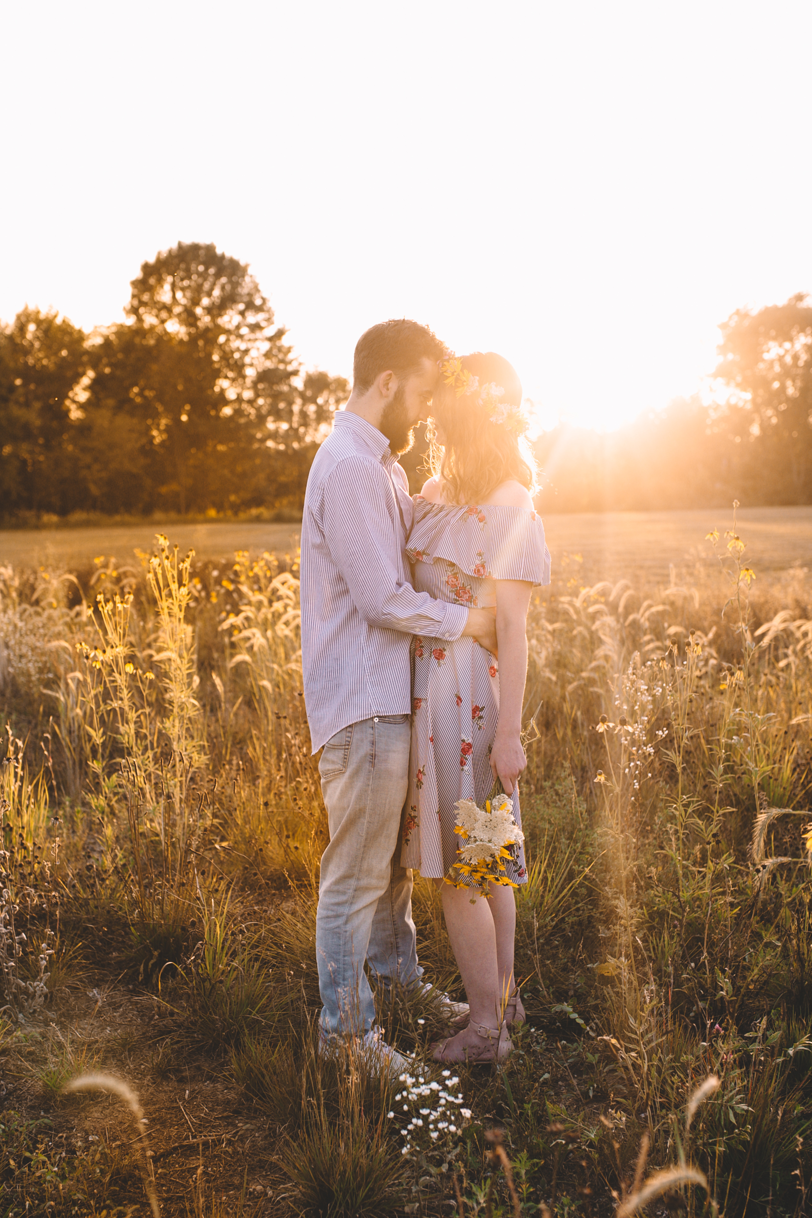Golden Wildflower Field Engagement Photos Indianapolis, IN Again We Say Rejoice Photography  (3 of 83).jpg