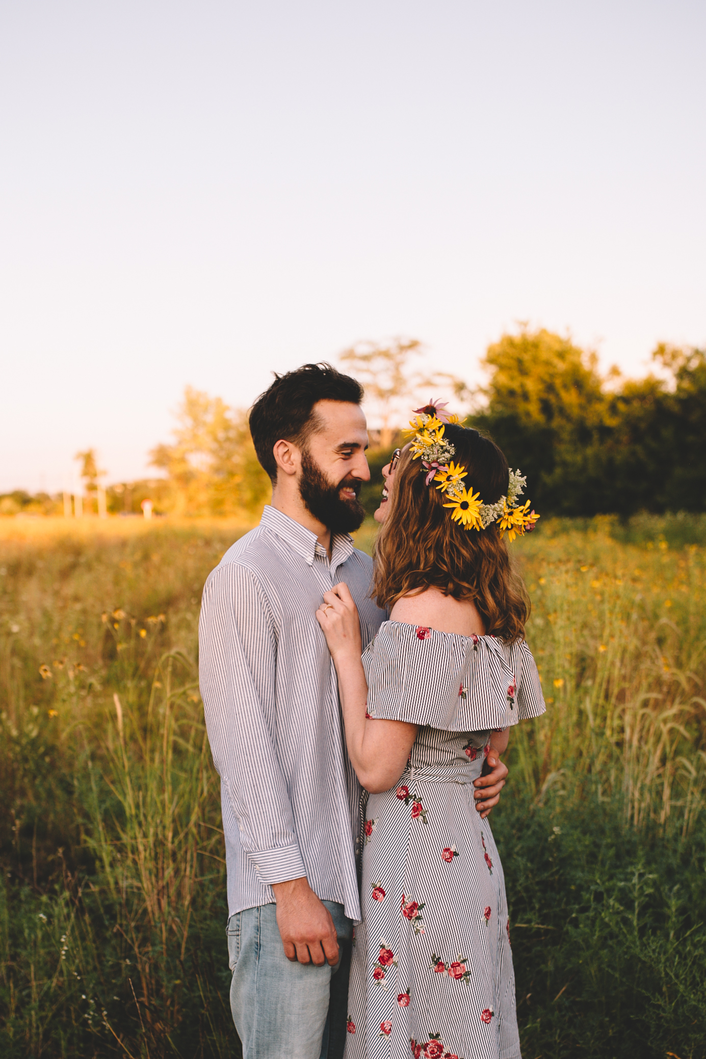 Golden Wildflower Field Engagement Photos Indianapolis, IN Again We Say Rejoice Photography  (8 of 83).jpg