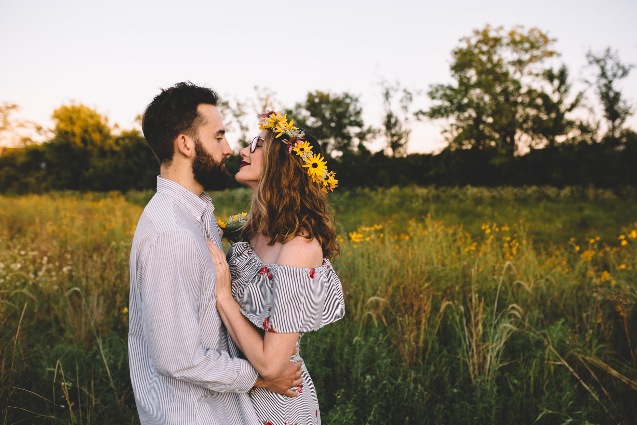Golden Wildflower Field Engagement Photos Indianapolis, IN Again We Say Rejoice Photography  (10 of 83).jpg