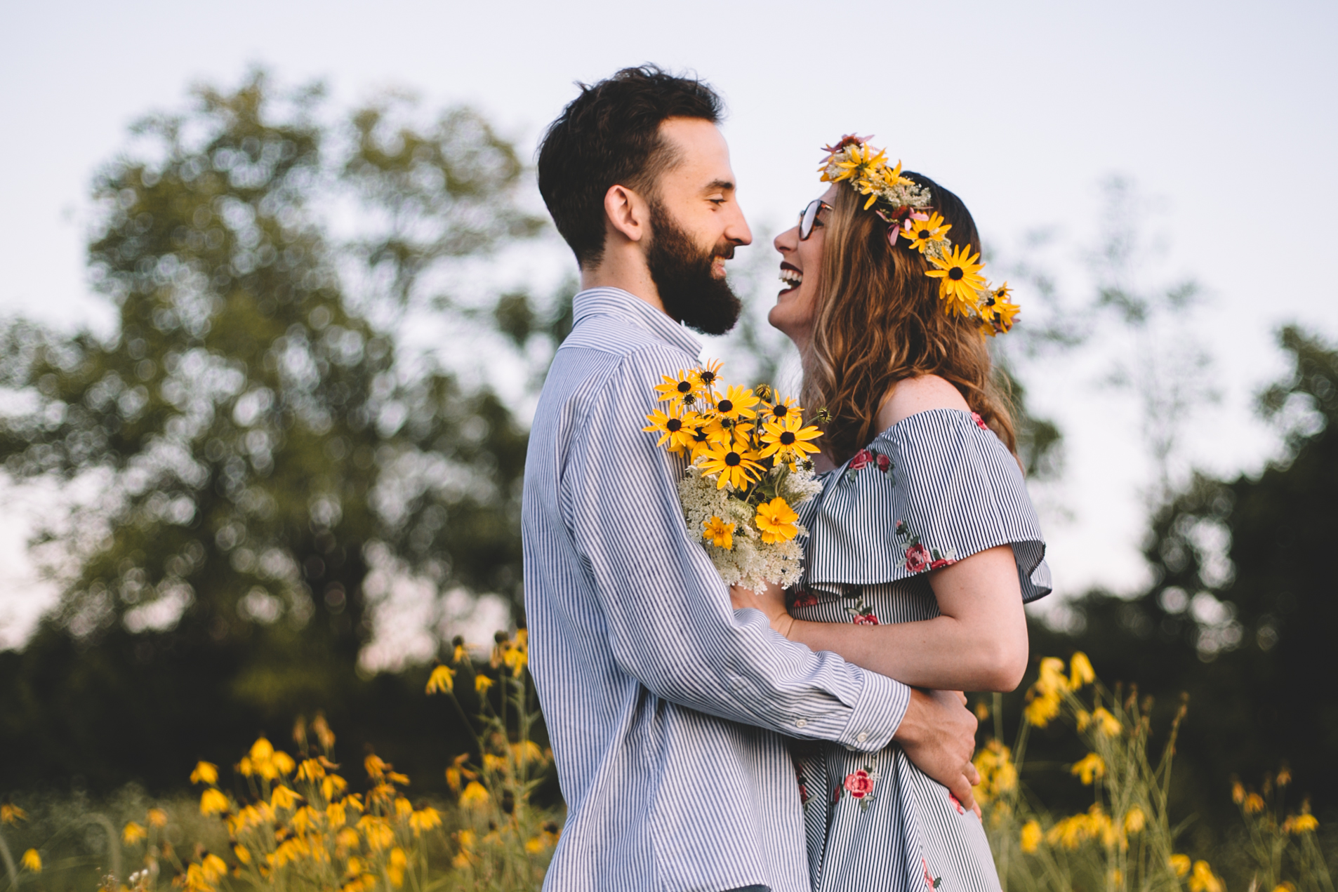 Golden Wildflower Field Engagement Photos Indianapolis, IN Again We Say Rejoice Photography  (15 of 83).jpg