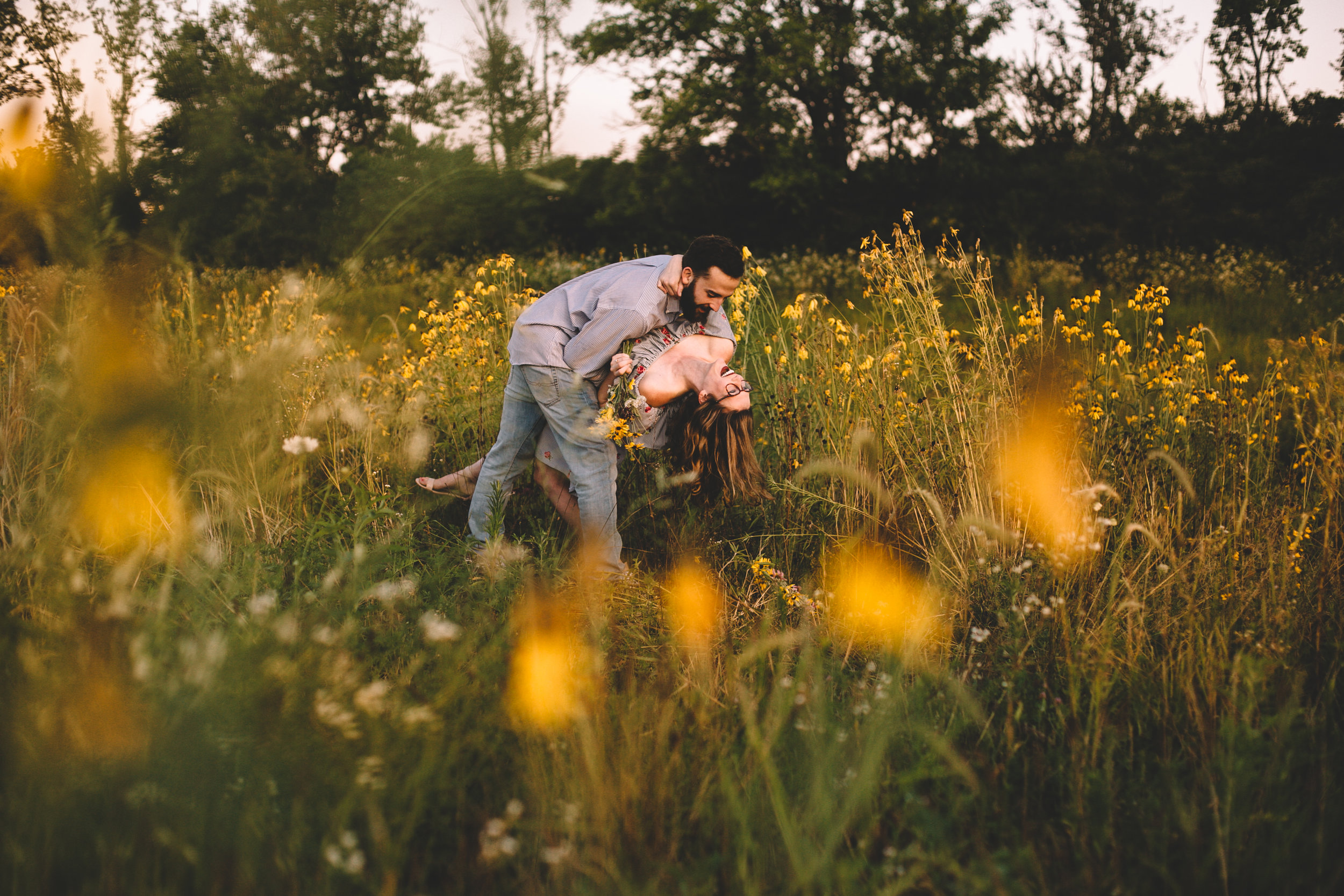 Golden Wildflower Field Engagement Photos Indianapolis, IN Again We Say Rejoice Photography  (21 of 83).jpg