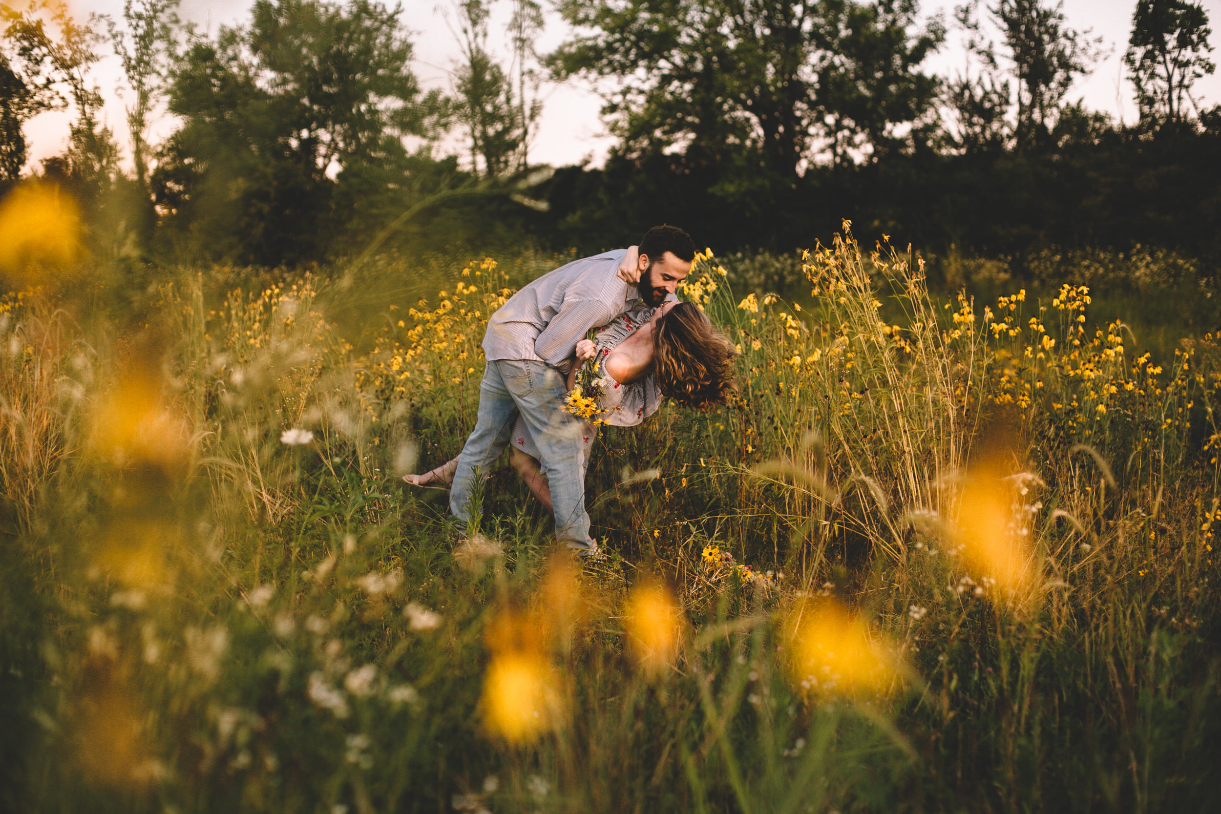 Golden Wildflower Field Engagement Photos Indianapolis, IN Again We Say Rejoice Photography  (22 of 83).jpg