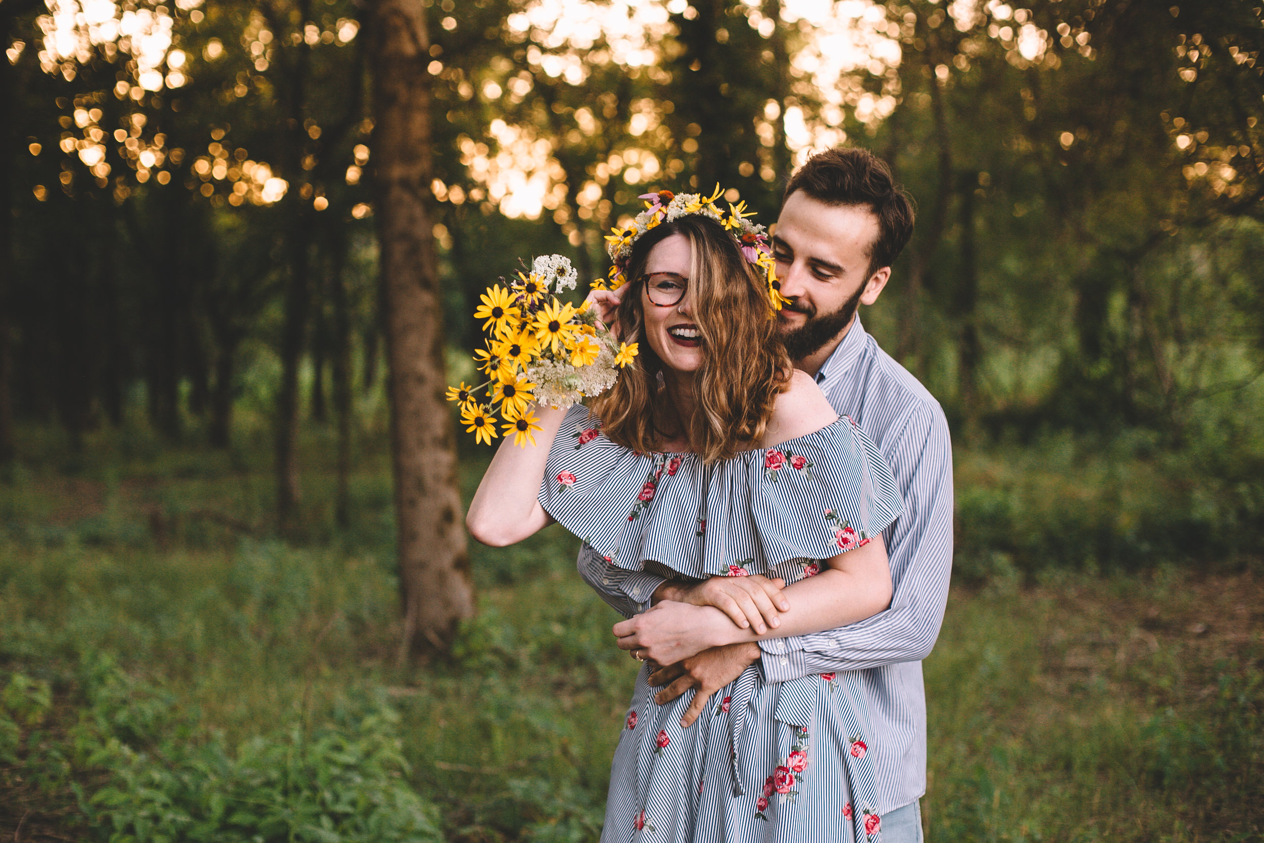 Golden Wildflower Field Engagement Photos Indianapolis, IN Again We Say Rejoice Photography  (25 of 83).jpg