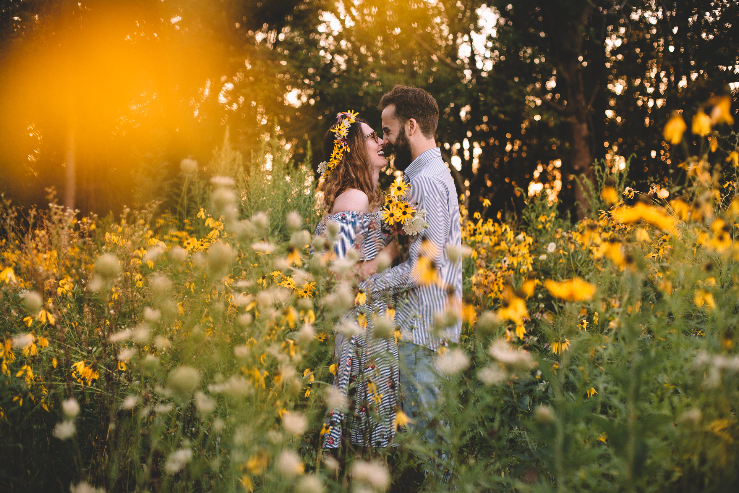 Golden Wildflower Field Engagement Photos Indianapolis, IN Again We Say Rejoice Photography  (33 of 83).jpg