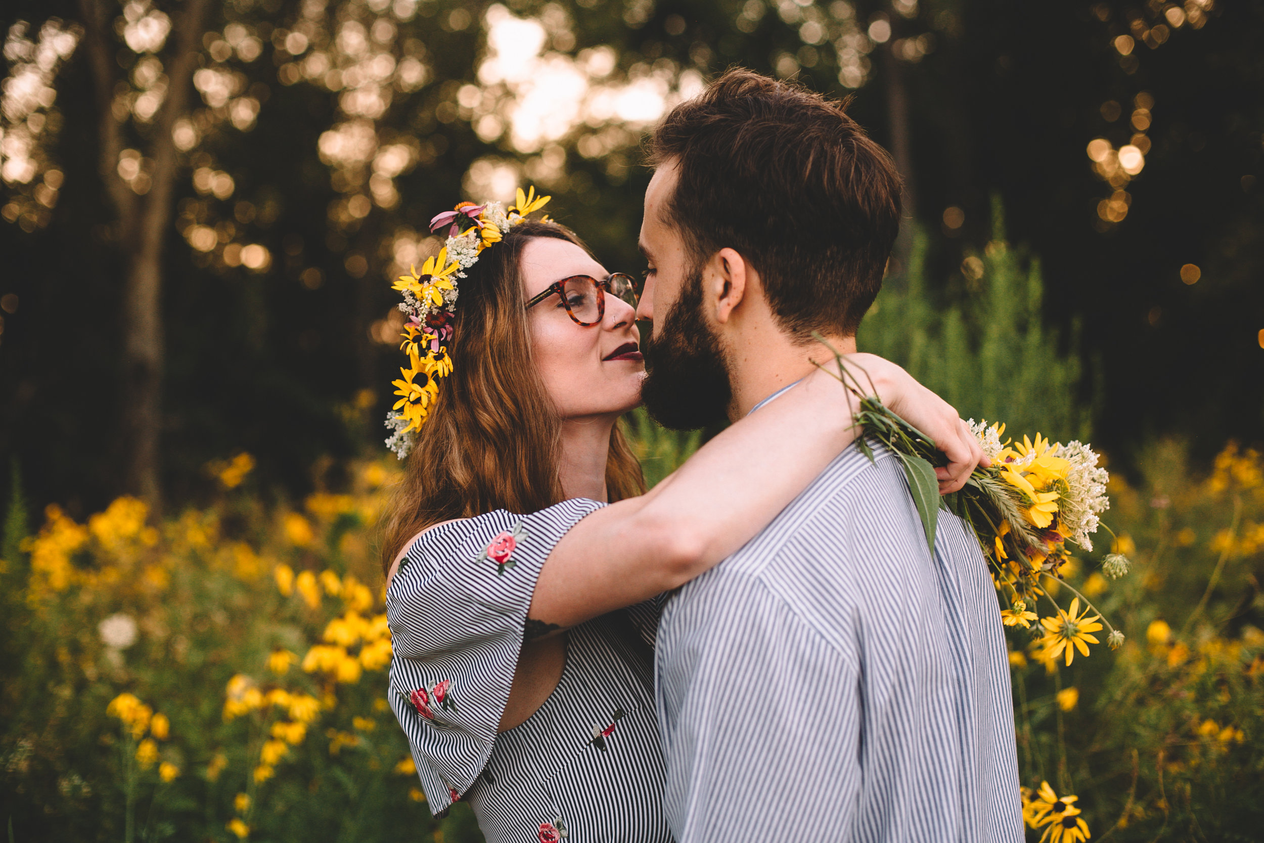 Golden Wildflower Field Engagement Photos Indianapolis, IN Again We Say Rejoice Photography  (34 of 83).jpg