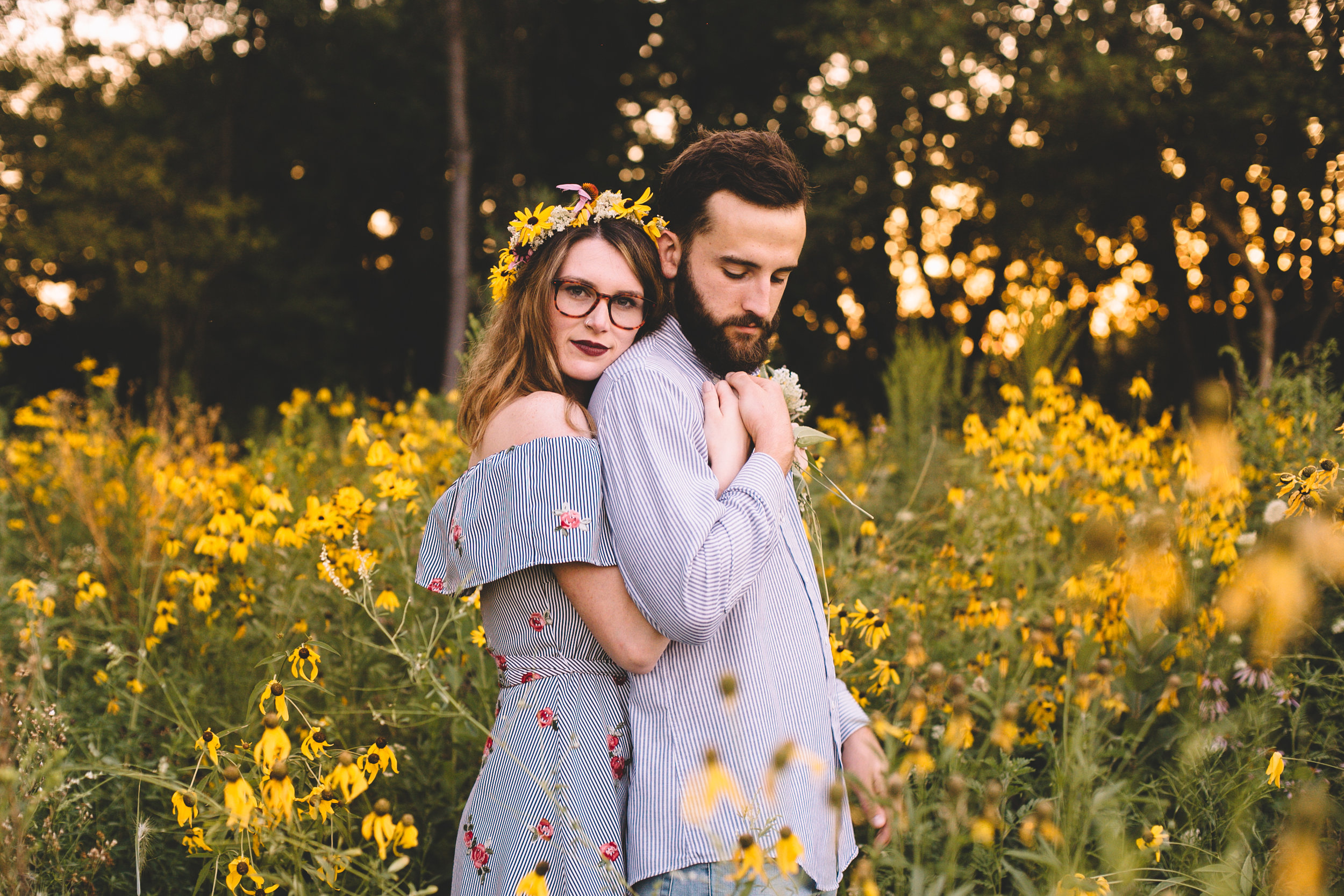 Golden Wildflower Field Engagement Photos Indianapolis, IN Again We Say Rejoice Photography  (41 of 83).jpg