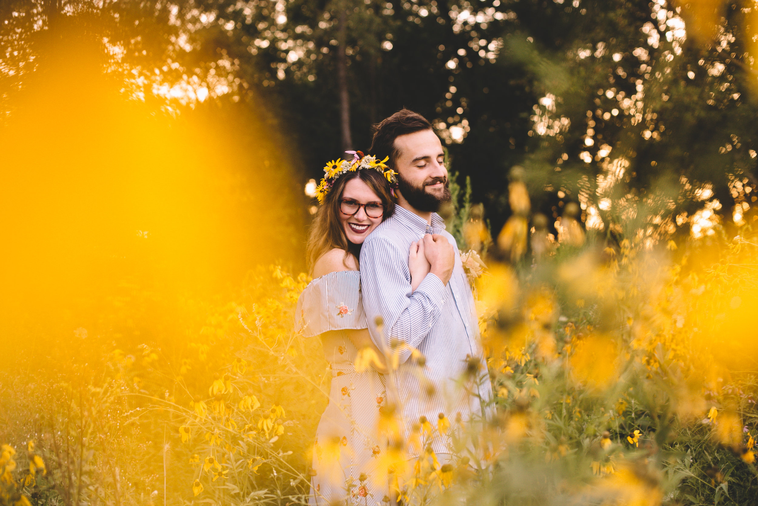 Golden Wildflower Field Engagement Photos Indianapolis, IN Again We Say Rejoice Photography  (42 of 83).jpg