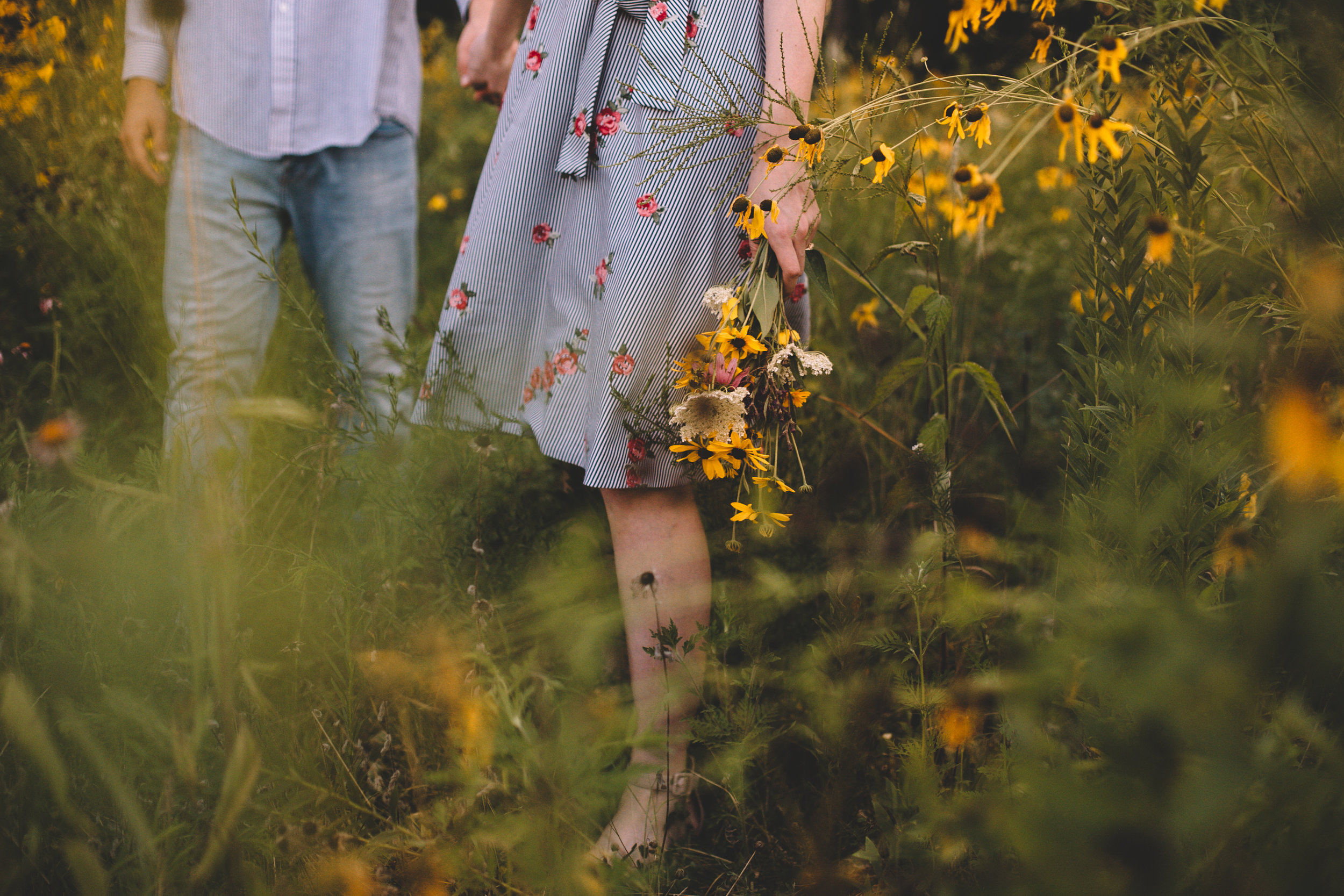 Golden Wildflower Field Engagement Photos Indianapolis, IN Again We Say Rejoice Photography  (46 of 83).jpg