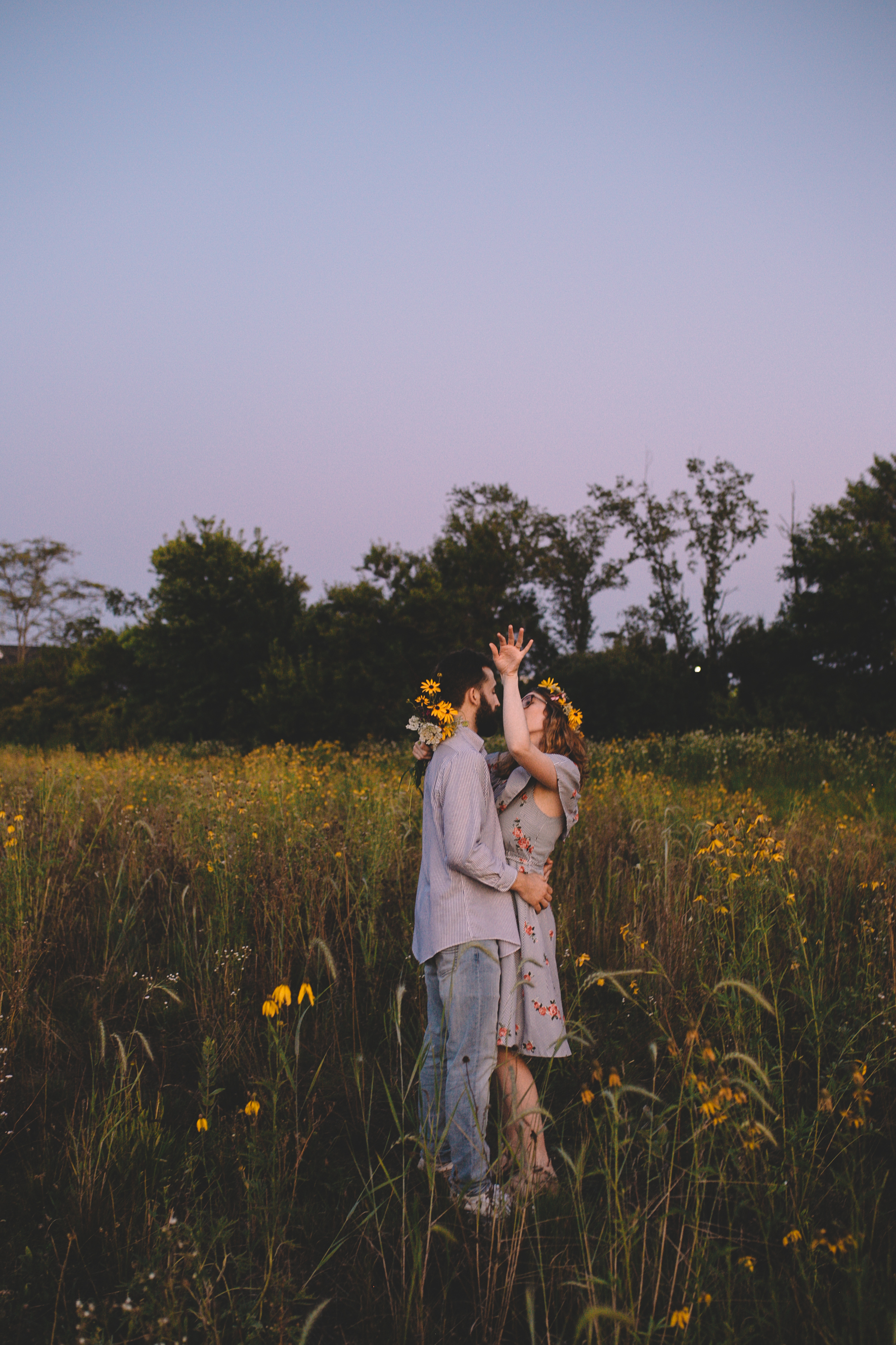 Golden Wildflower Field Engagement Photos Indianapolis, IN Again We Say Rejoice Photography  (57 of 83).jpg