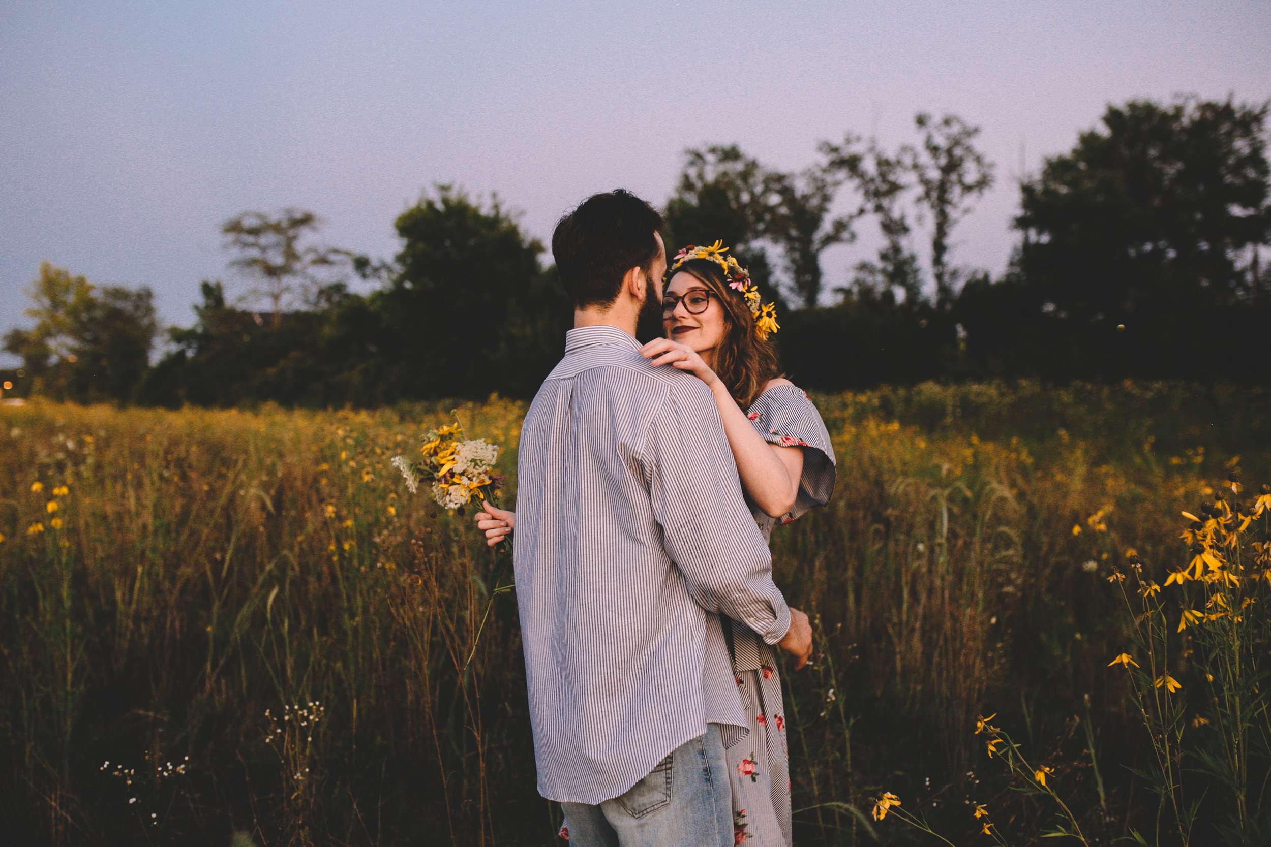 Golden Wildflower Field Engagement Photos Indianapolis, IN Again We Say Rejoice Photography  (59 of 83).jpg