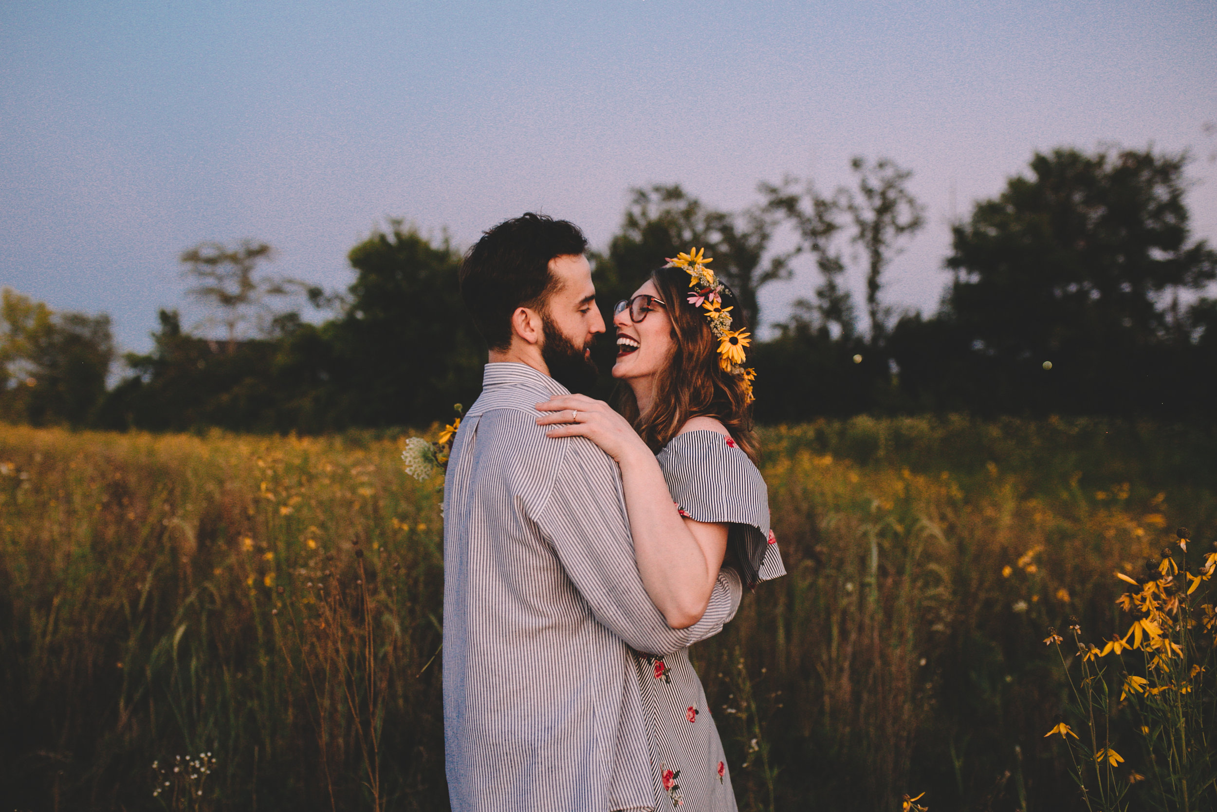 Golden Wildflower Field Engagement Photos Indianapolis, IN Again We Say Rejoice Photography  (60 of 83).jpg
