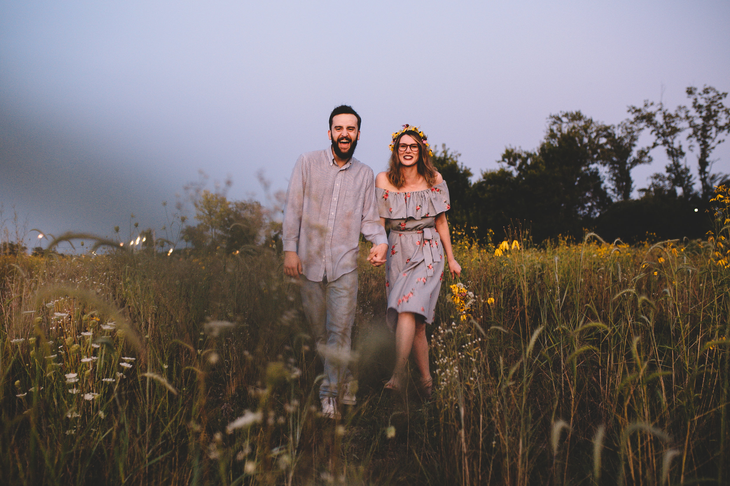 Golden Wildflower Field Engagement Photos Indianapolis, IN Again We Say Rejoice Photography  (66 of 83).jpg