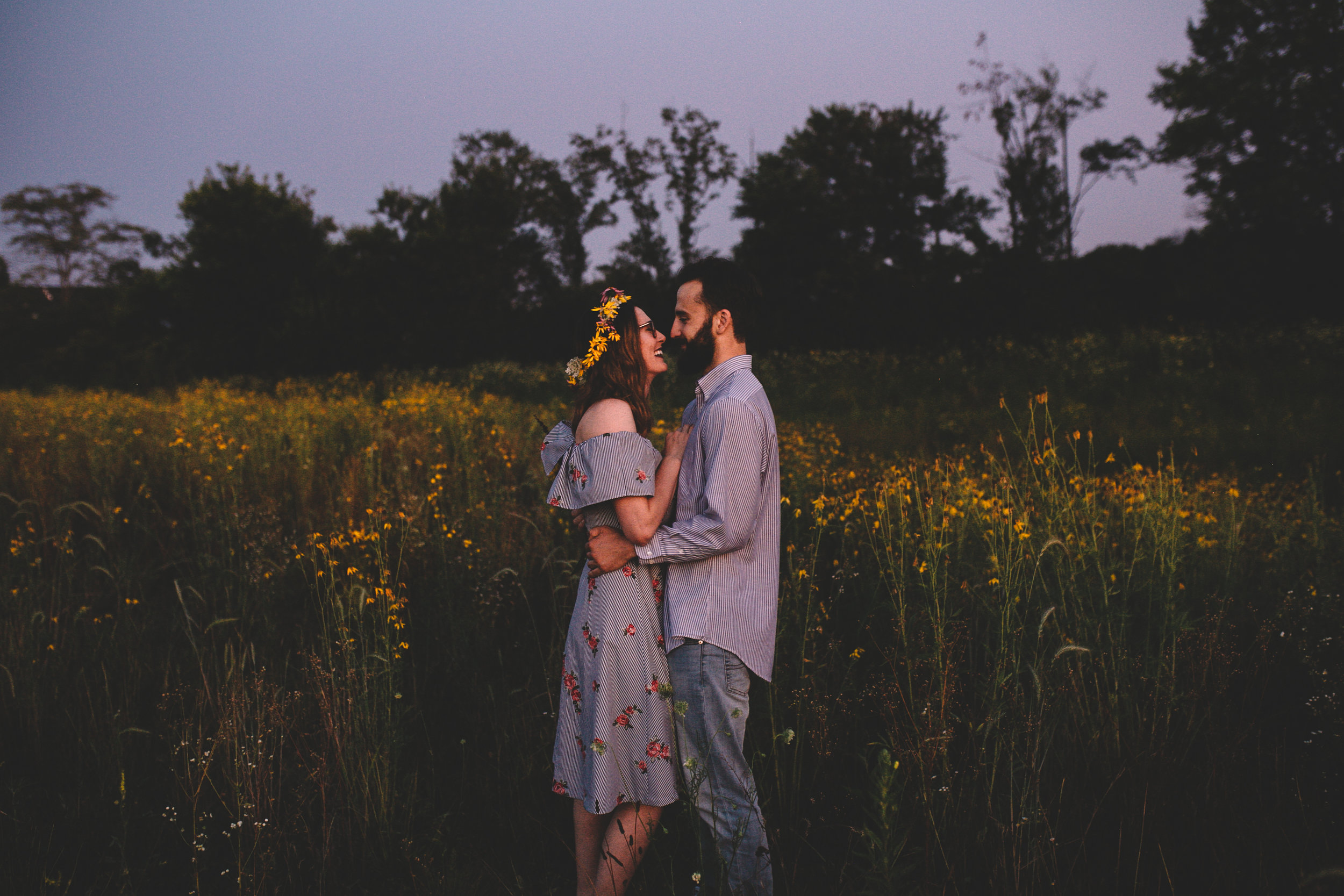 Golden Wildflower Field Engagement Photos Indianapolis, IN Again We Say Rejoice Photography  (72 of 83).jpg