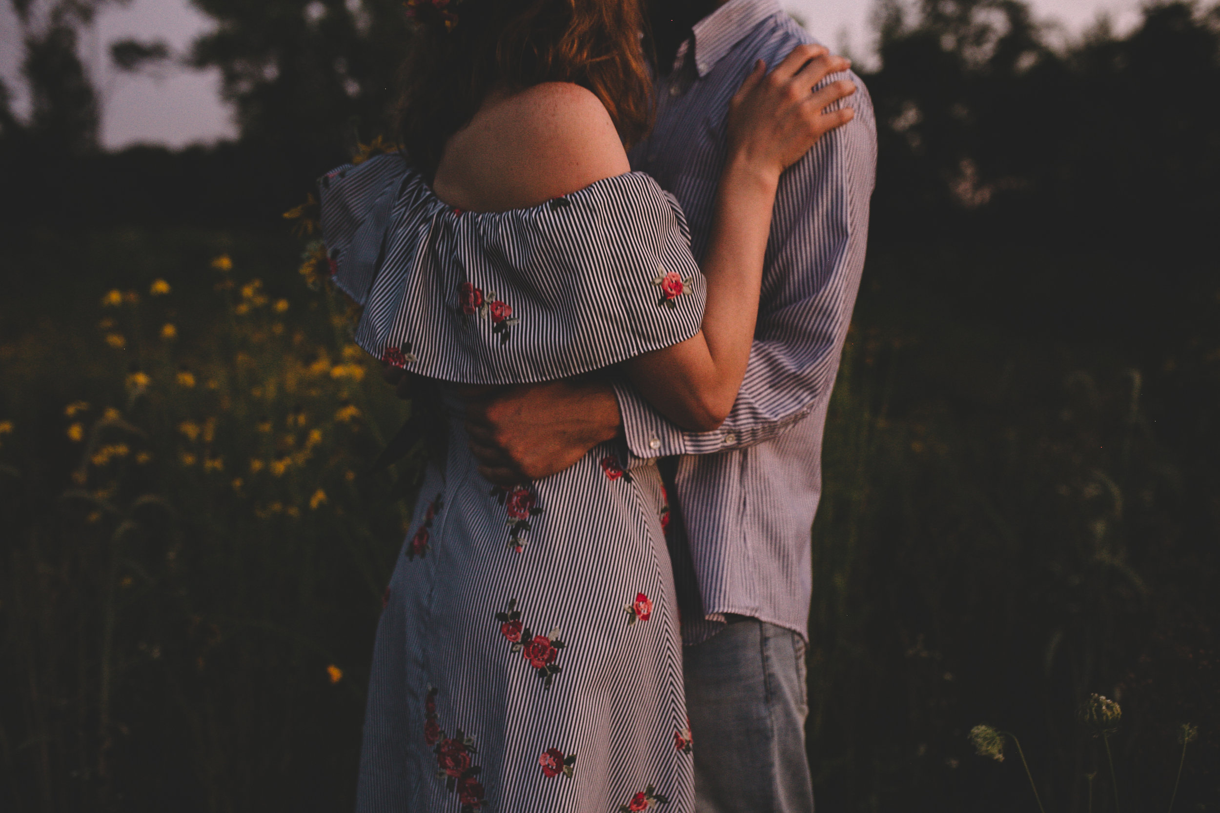 Golden Wildflower Field Engagement Photos Indianapolis, IN Again We Say Rejoice Photography  (73 of 83).jpg