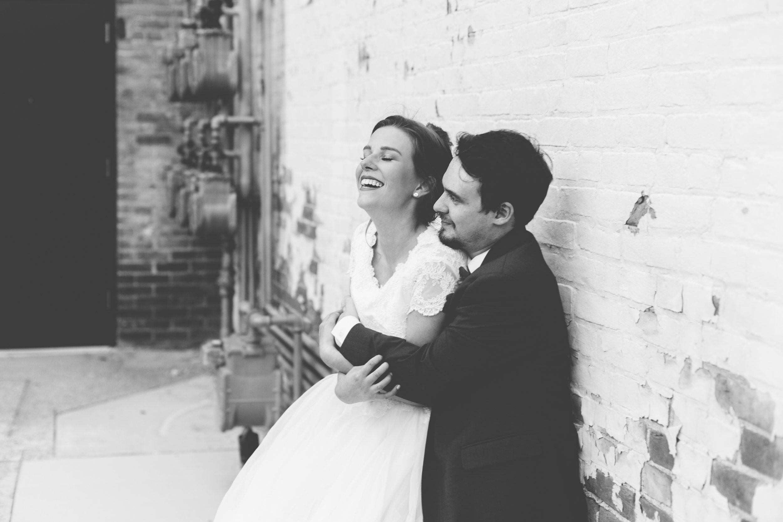 Urban Distressed Brick Wall Bridal Portraits Again We Say Rejoice Photography (6 of 18).jpg