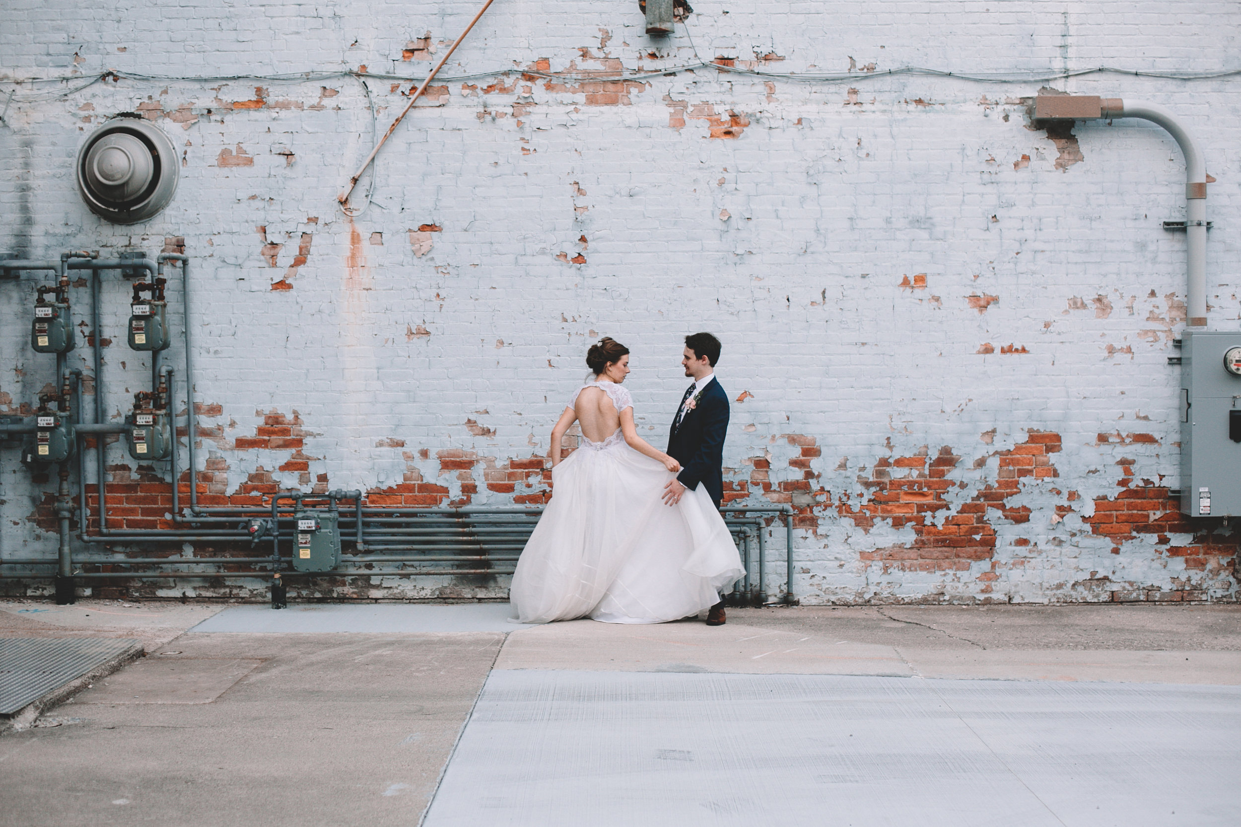 Urban Distressed Brick Wall Bridal Portraits Again We Say Rejoice Photography (8 of 18).jpg