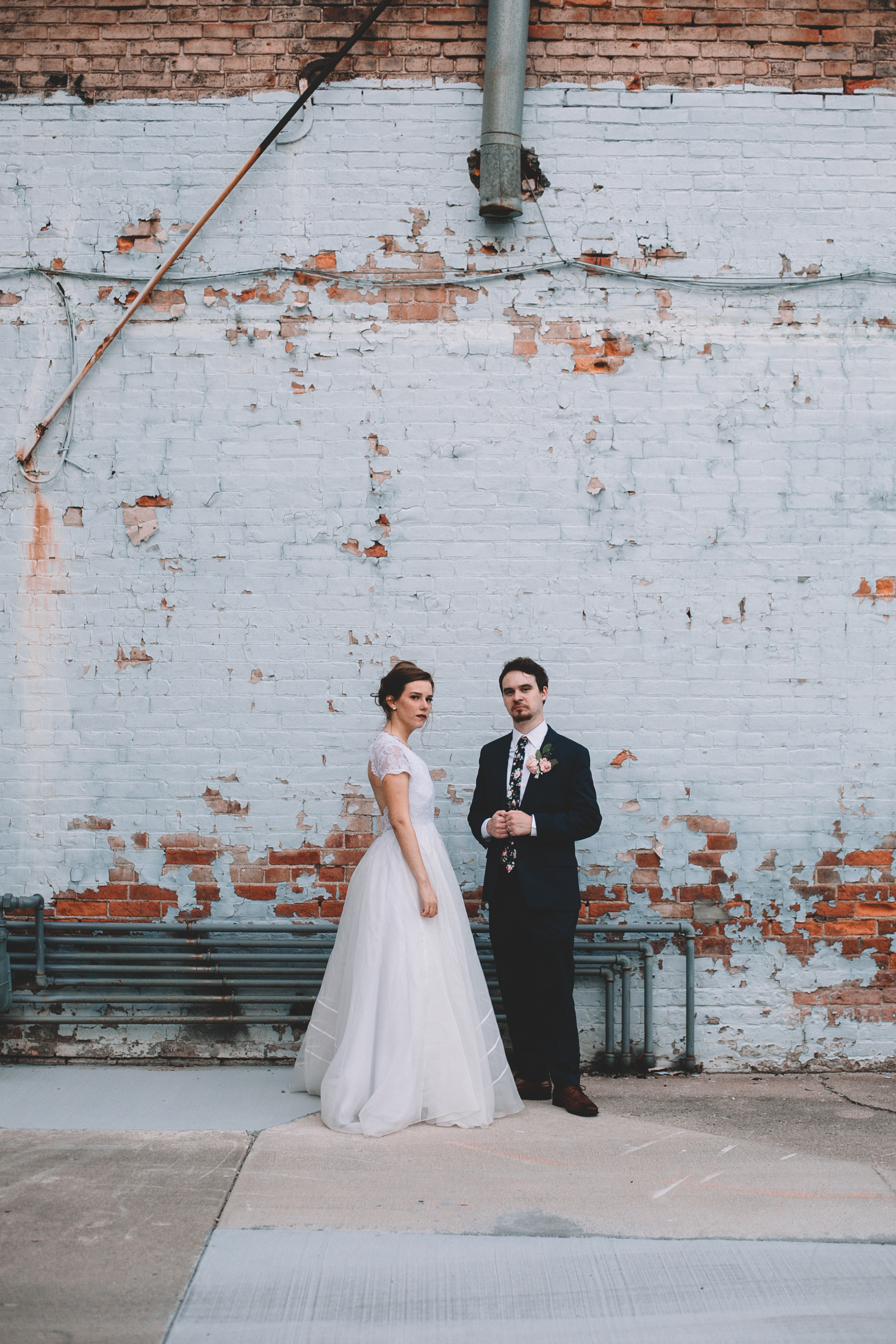 Urban Distressed Brick Wall Bridal Portraits Again We Say Rejoice Photography (7 of 18).jpg