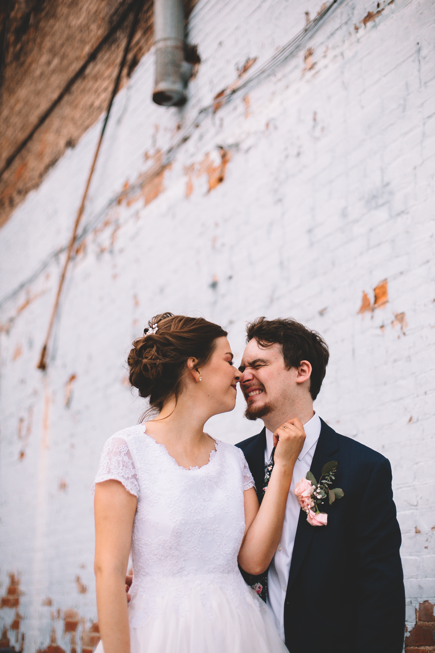 Urban Distressed Brick Wall Bridal Portraits Again We Say Rejoice Photography (10 of 18).jpg
