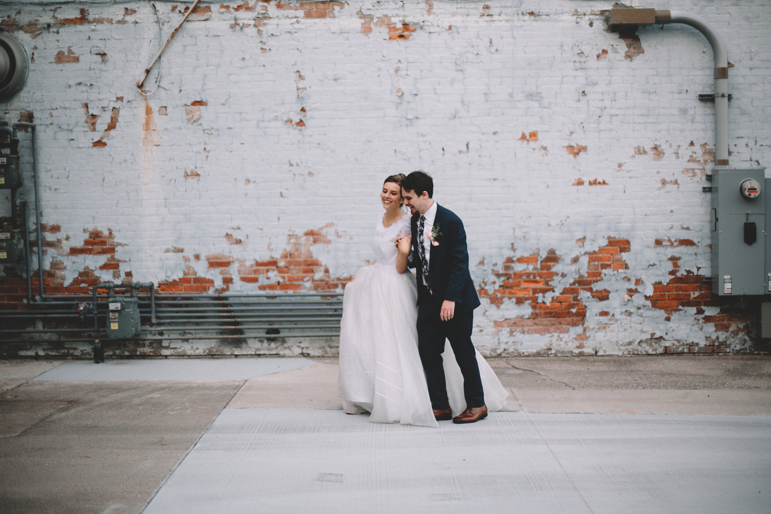 Urban Distressed Brick Wall Bridal Portraits Again We Say Rejoice Photography (15 of 18).jpg