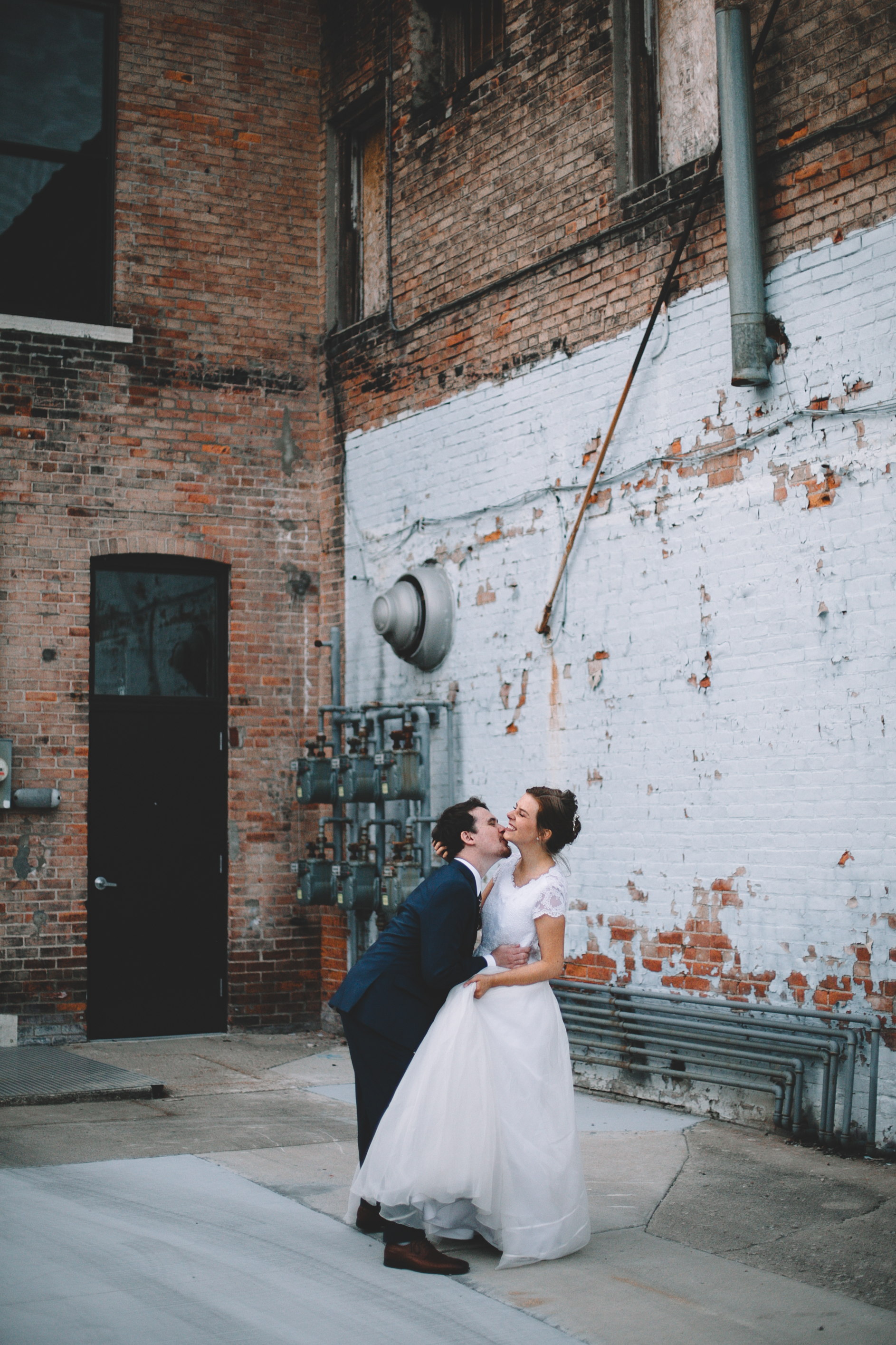 Urban Distressed Brick Wall Bridal Portraits Again We Say Rejoice Photography (16 of 18).jpg