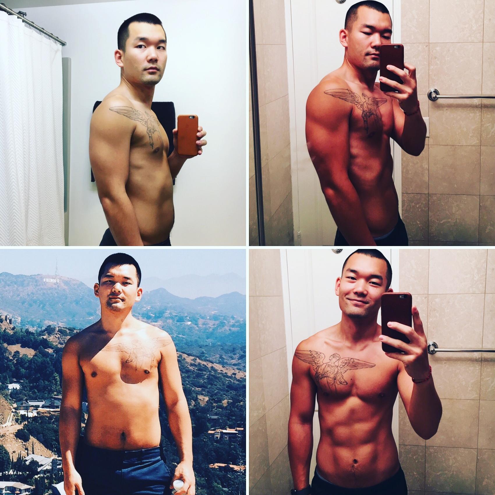 25 lbs of body fat -->9.5 lbs of body fat