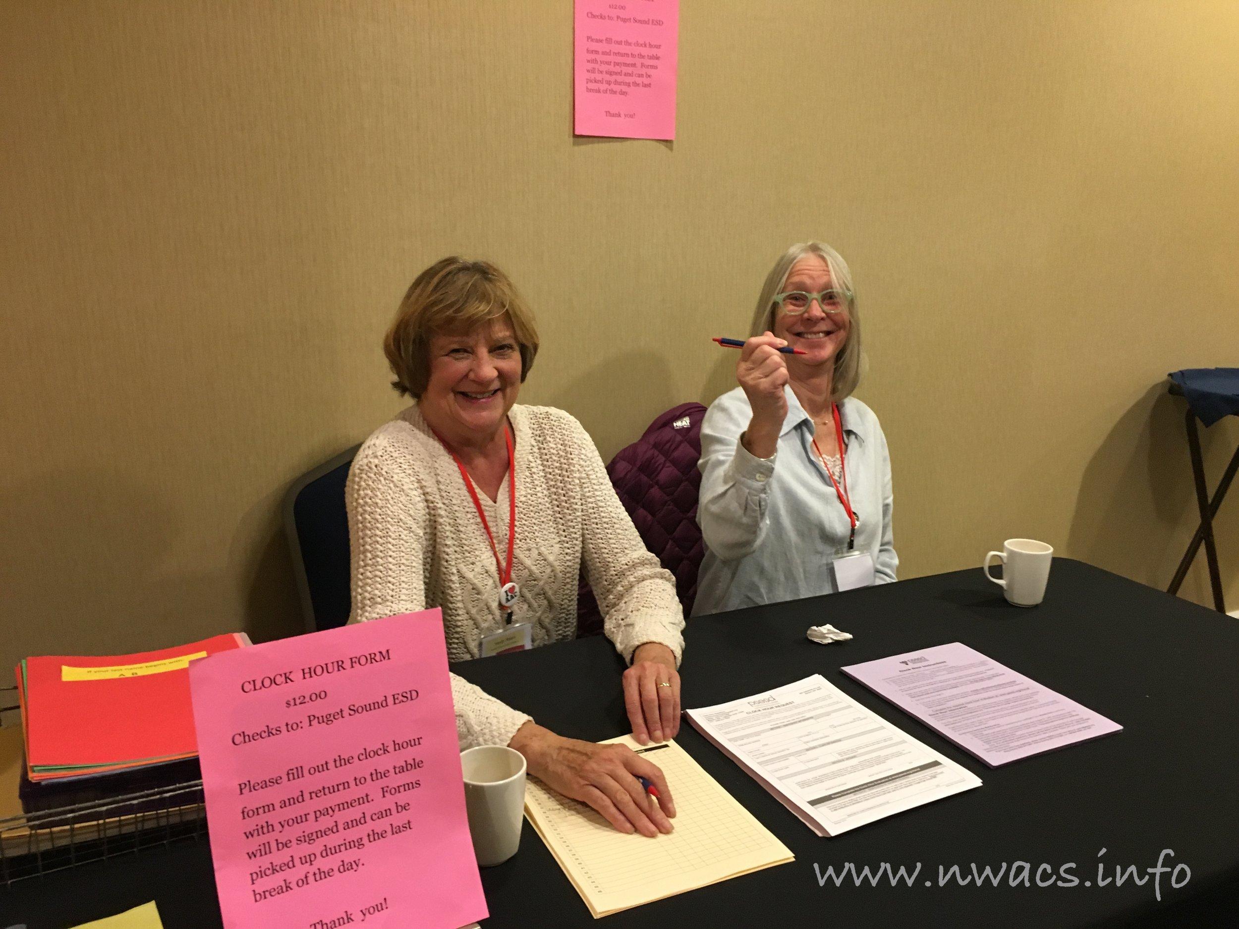 NWACS Board members Sandy & Jeri