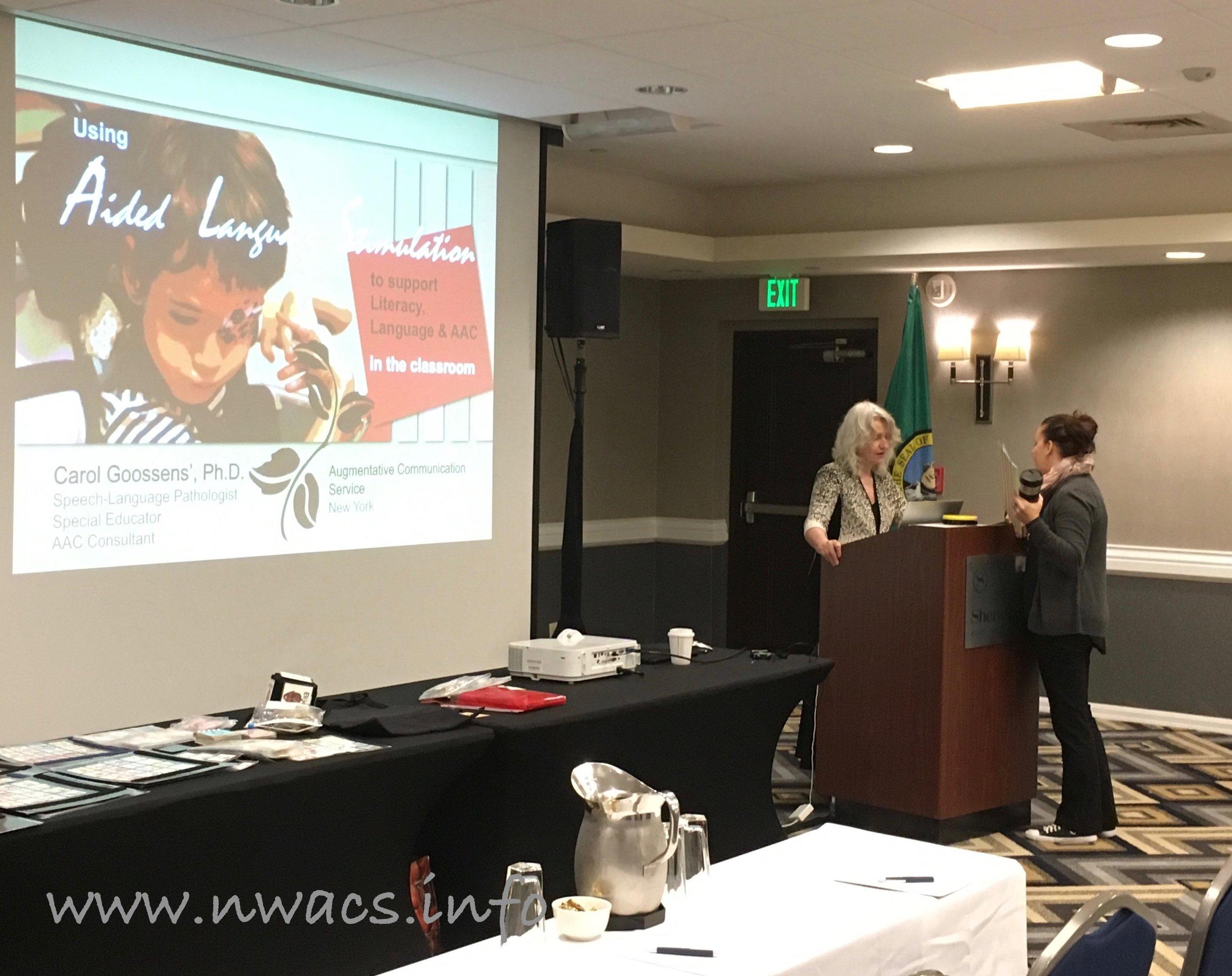 Carol Goossens' & NWACS President Tanna