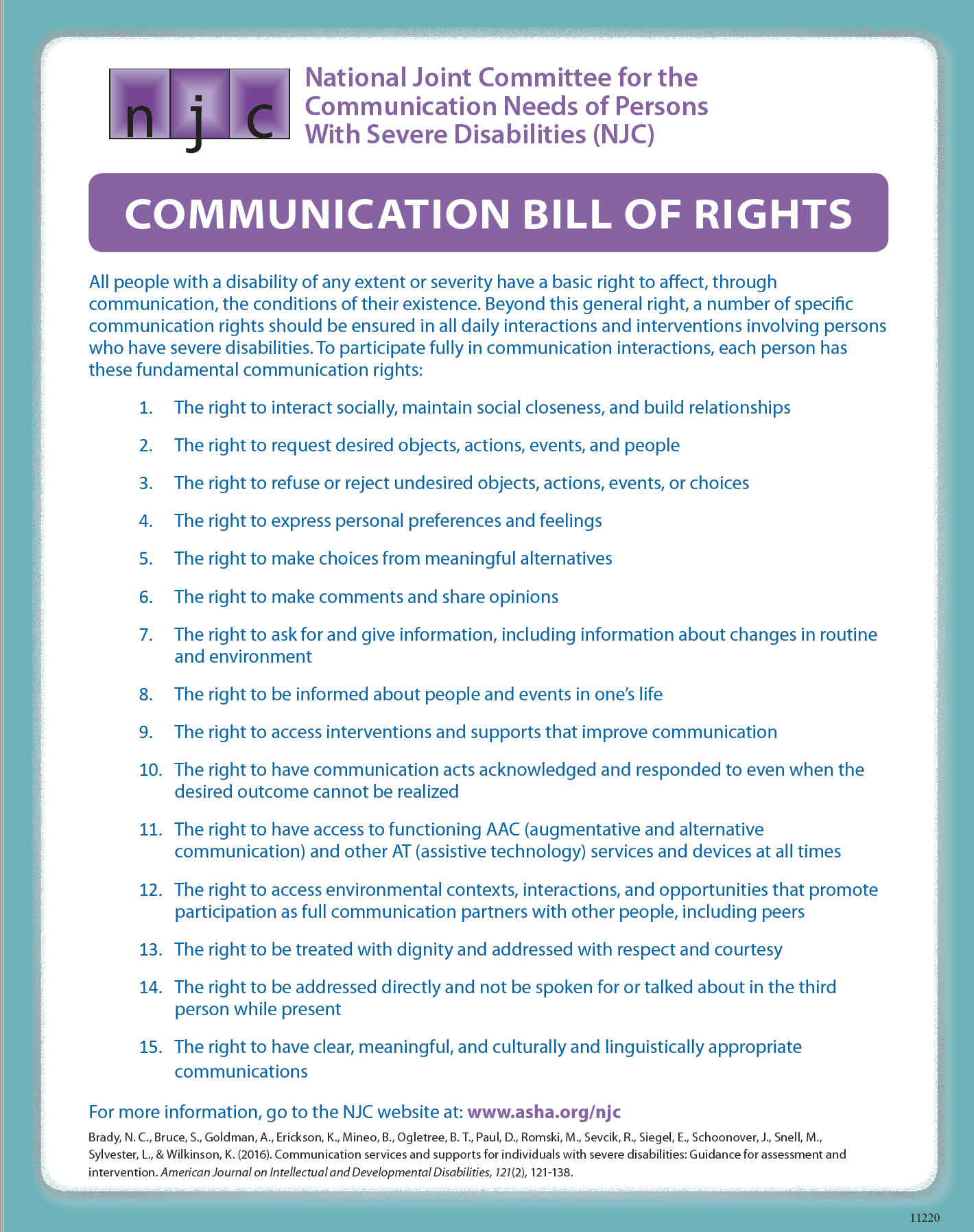Communication Bill of Rights