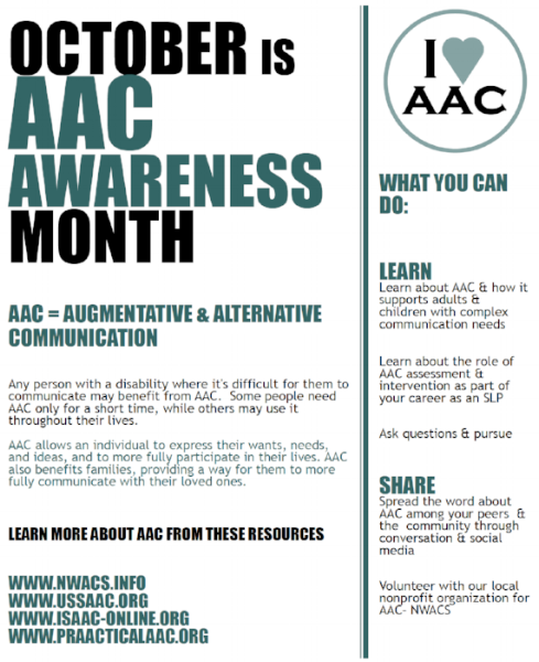 AAC Awareness Month Poster