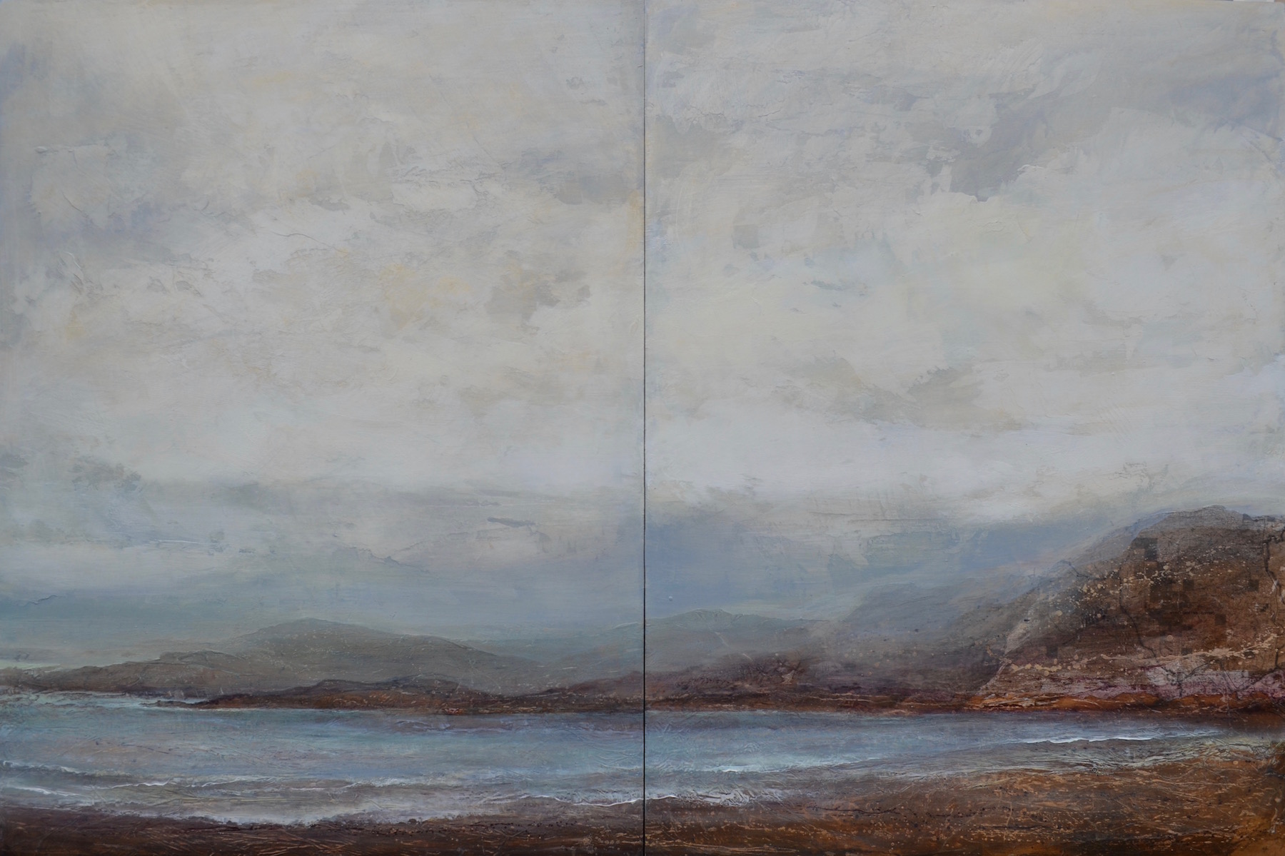 "Ocean Air, 48""x 72"" diptych, sold"