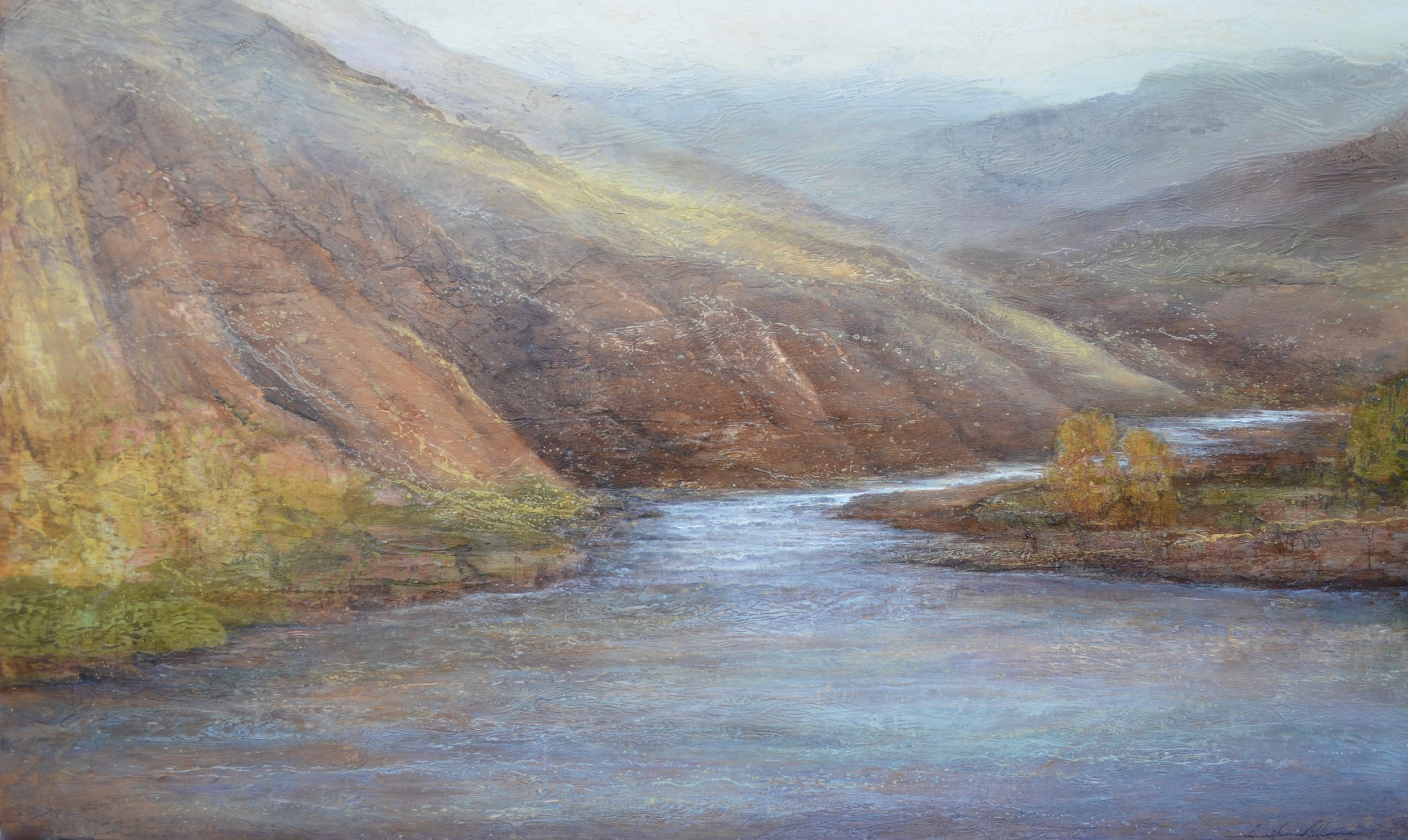"River Bend,  30""x60, private commission ~ SOLD"