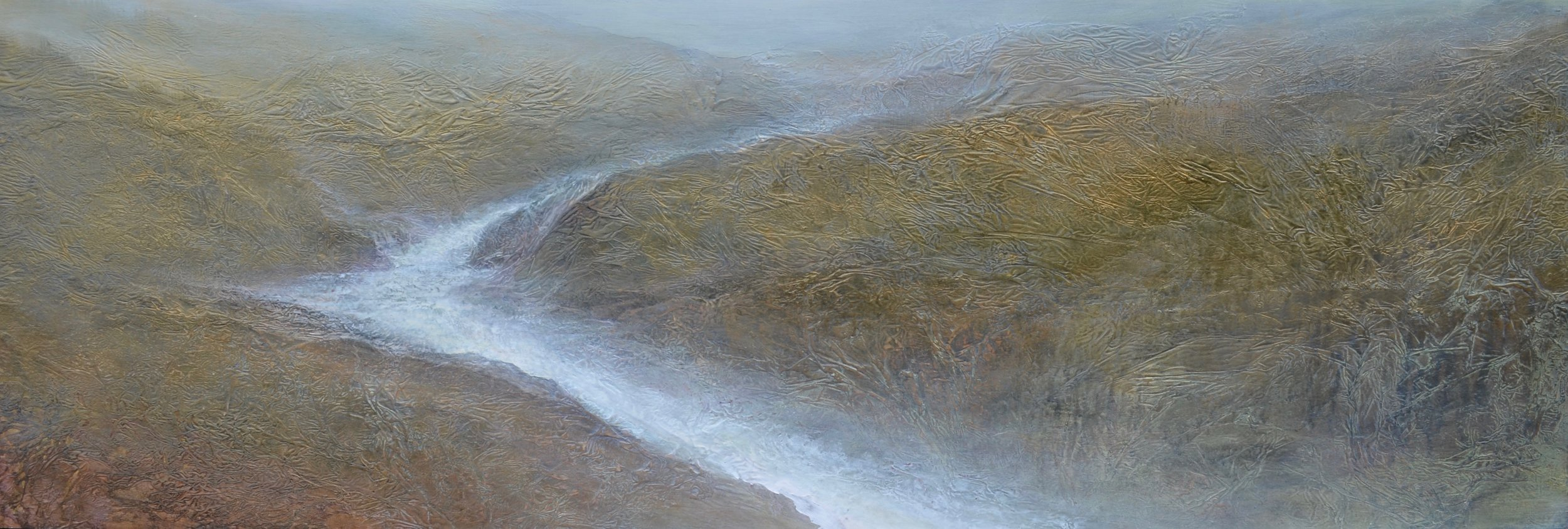 "Gold Rush , 24"" x 72"", mixed media on wood ~ SOLD"