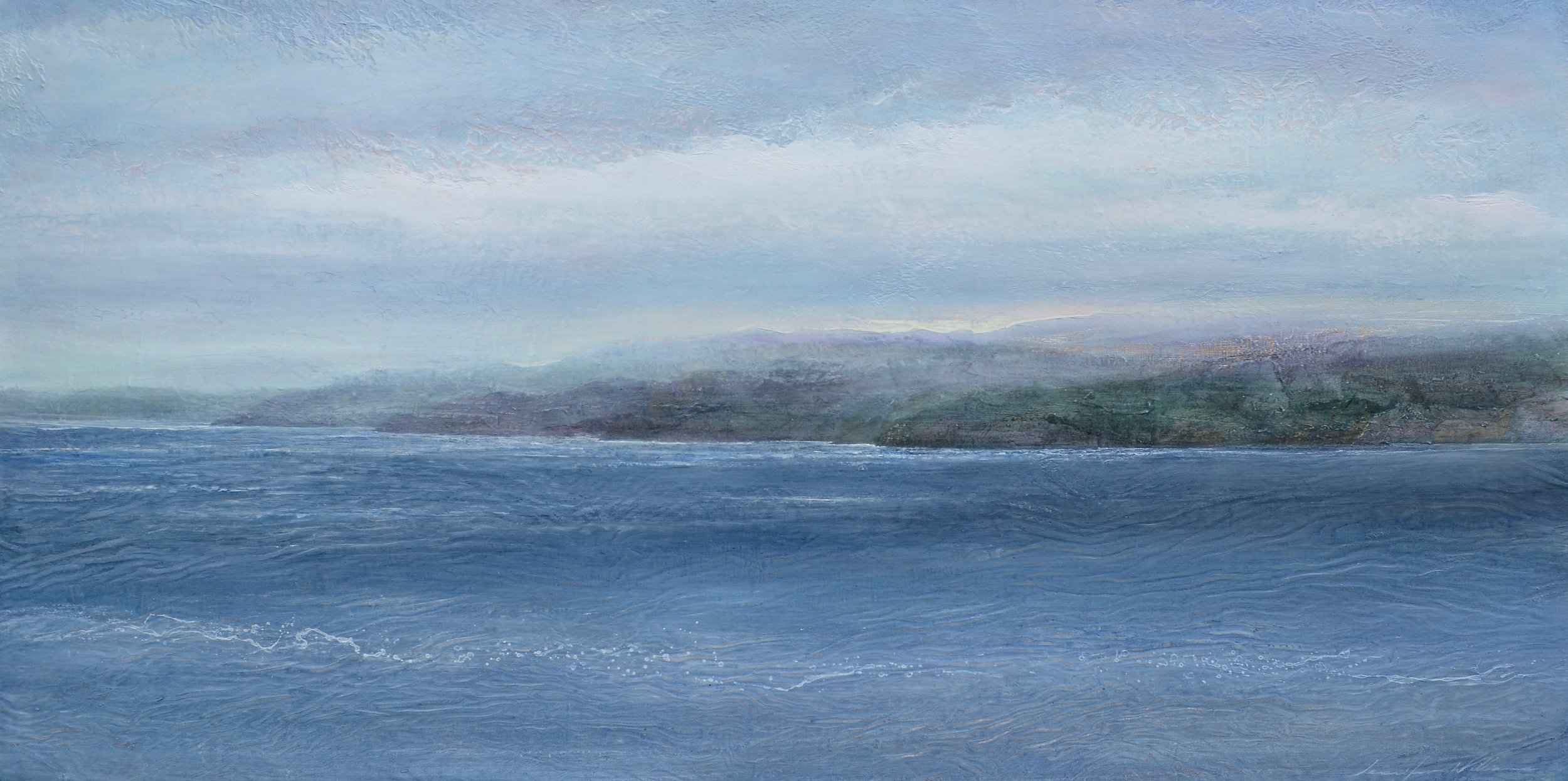 "Inshore,  24""x48"" mixed media on wood -SOLD"