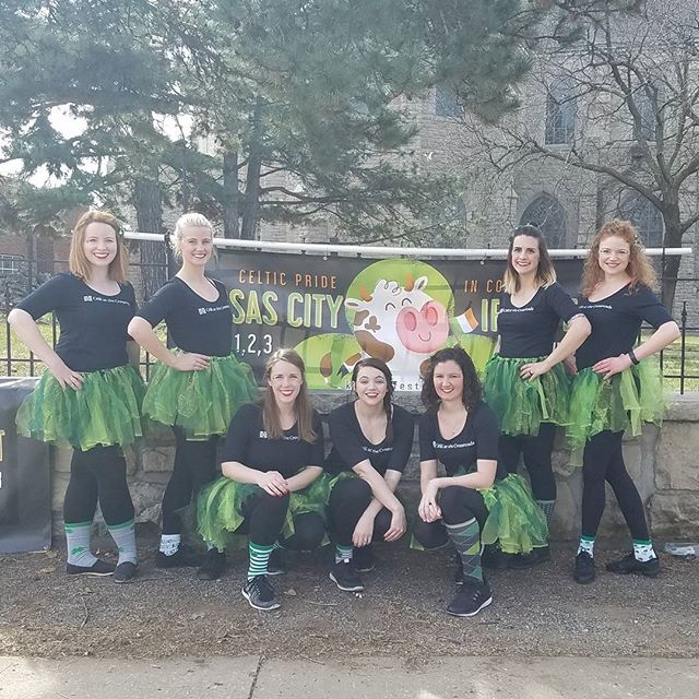 We are ready for the St. Patrick's Day parade! Check us out with the Kansas City Irish Fest! #ceilistpaddys17