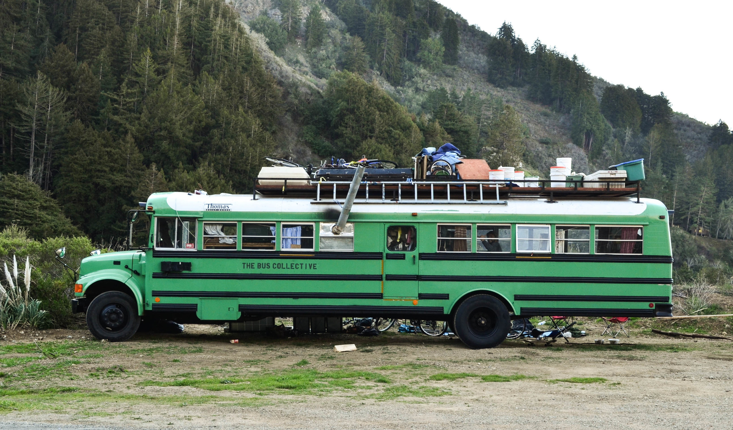 I'm a huge fan of sweet adventure mobiles, particularly vans. My favorite part about them besides photographing and traveling in them is the rad people you meet on the road. A group of college students were living in this modified bus traveling the country.