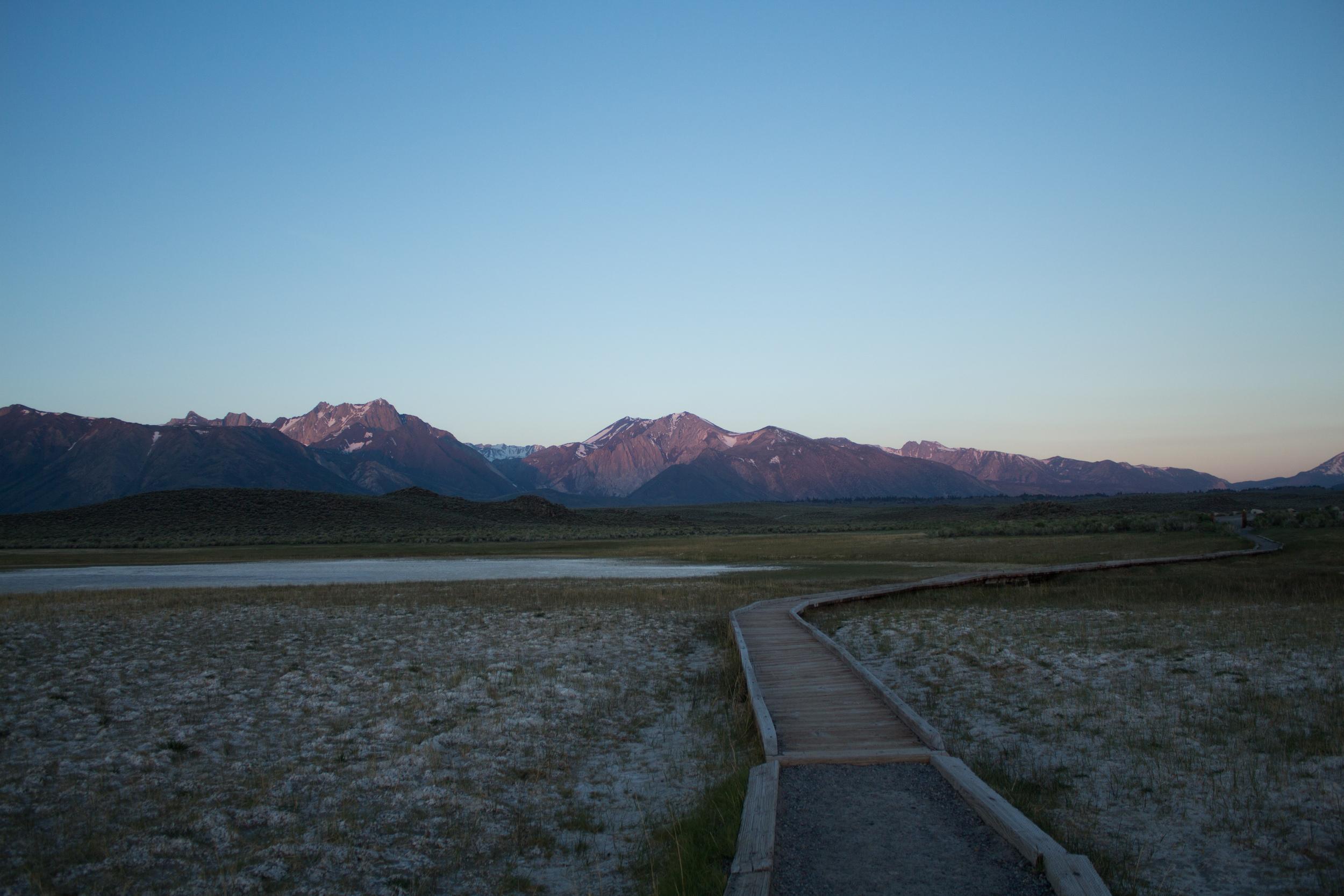 Sunrise in the Sierras.