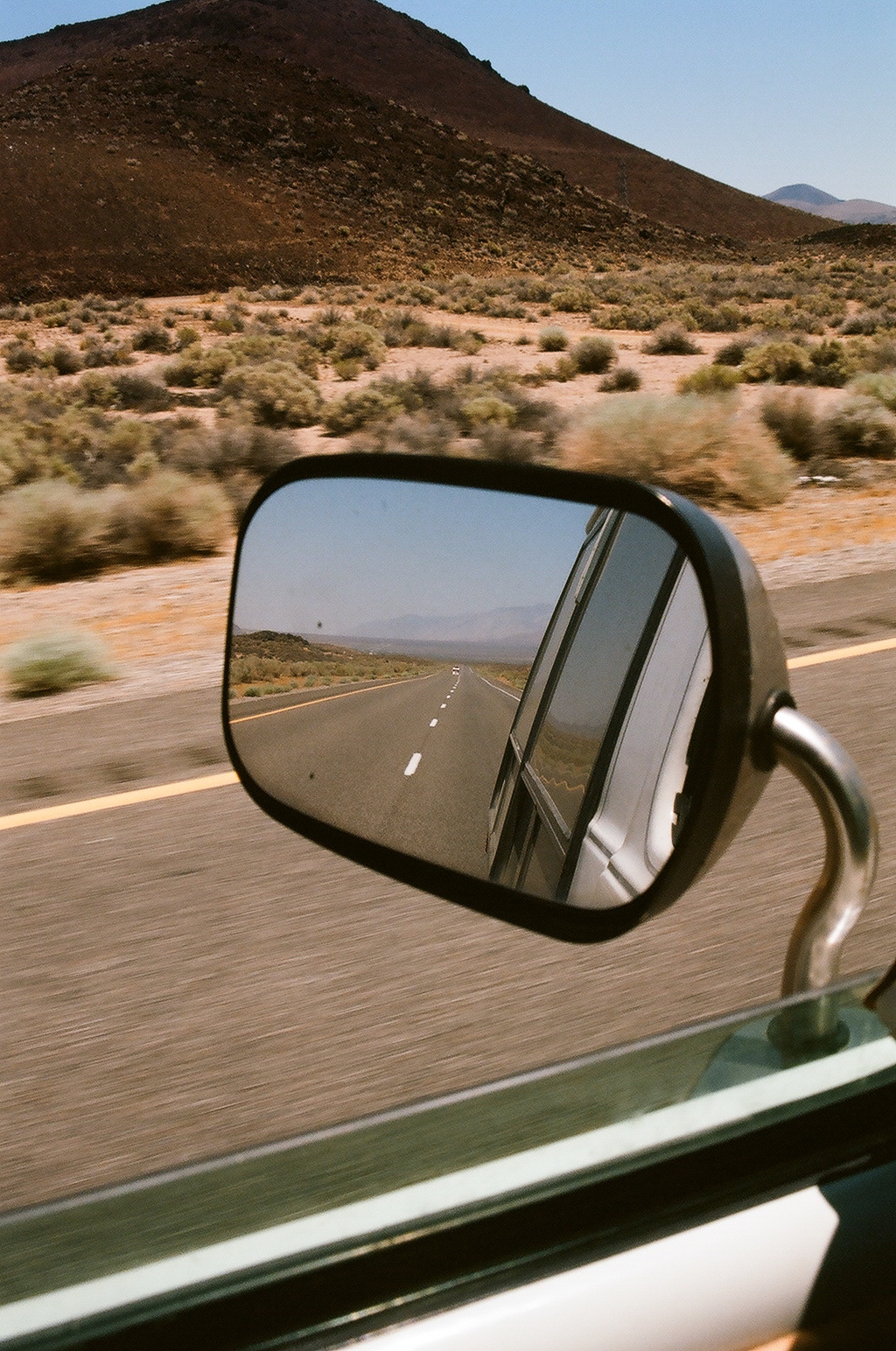Driving through the desert with no AC.