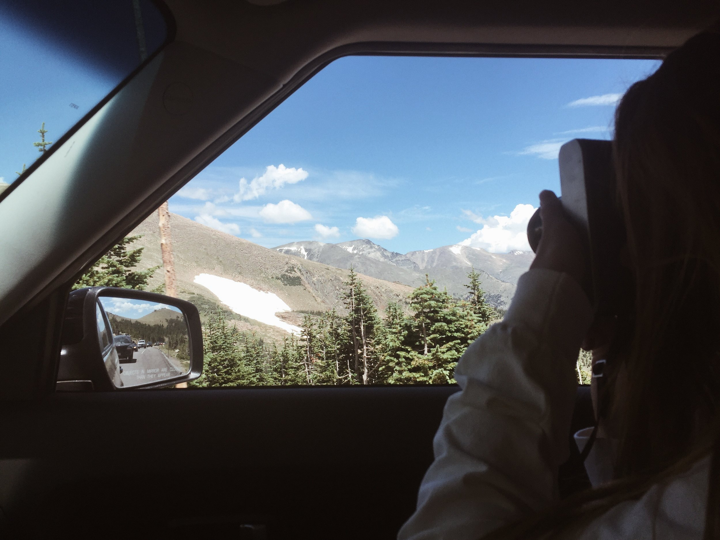 Passing through Rocky Mountain National Park.