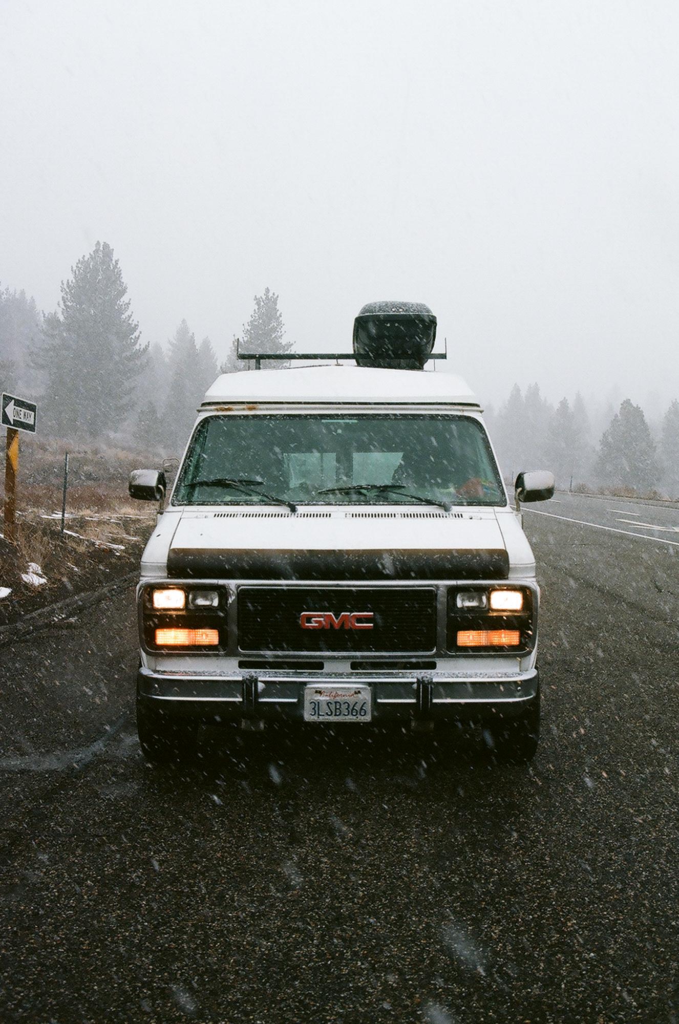 Snow flurry on the 395.