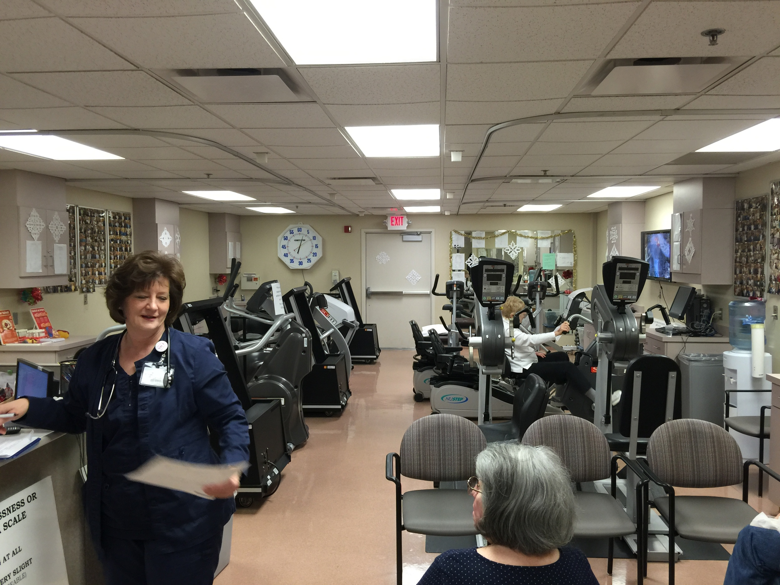 Cardiac Rehab...not the biggest facility, but just what I needed and everyone there was so amazing!