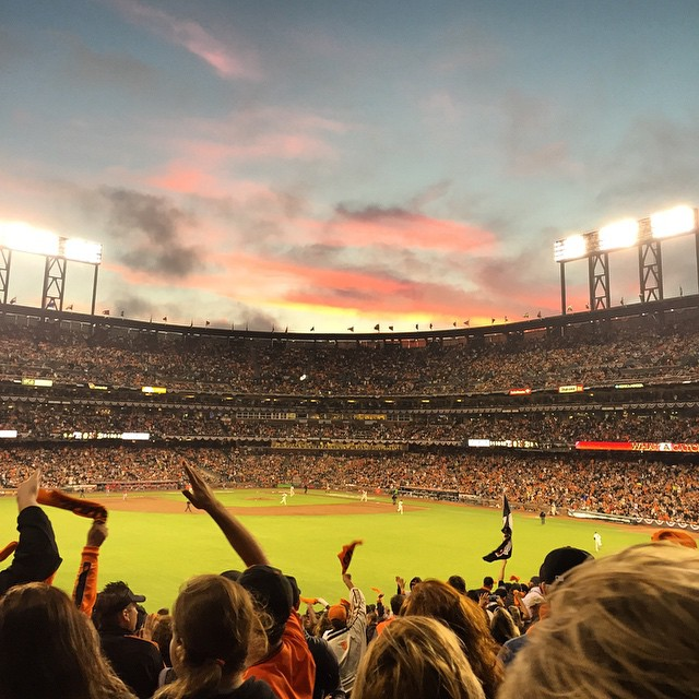 Beautiful night for a ballgame// Giants vs. Nationals NLDS // First time seeing a clinching win (at AT&T Park)