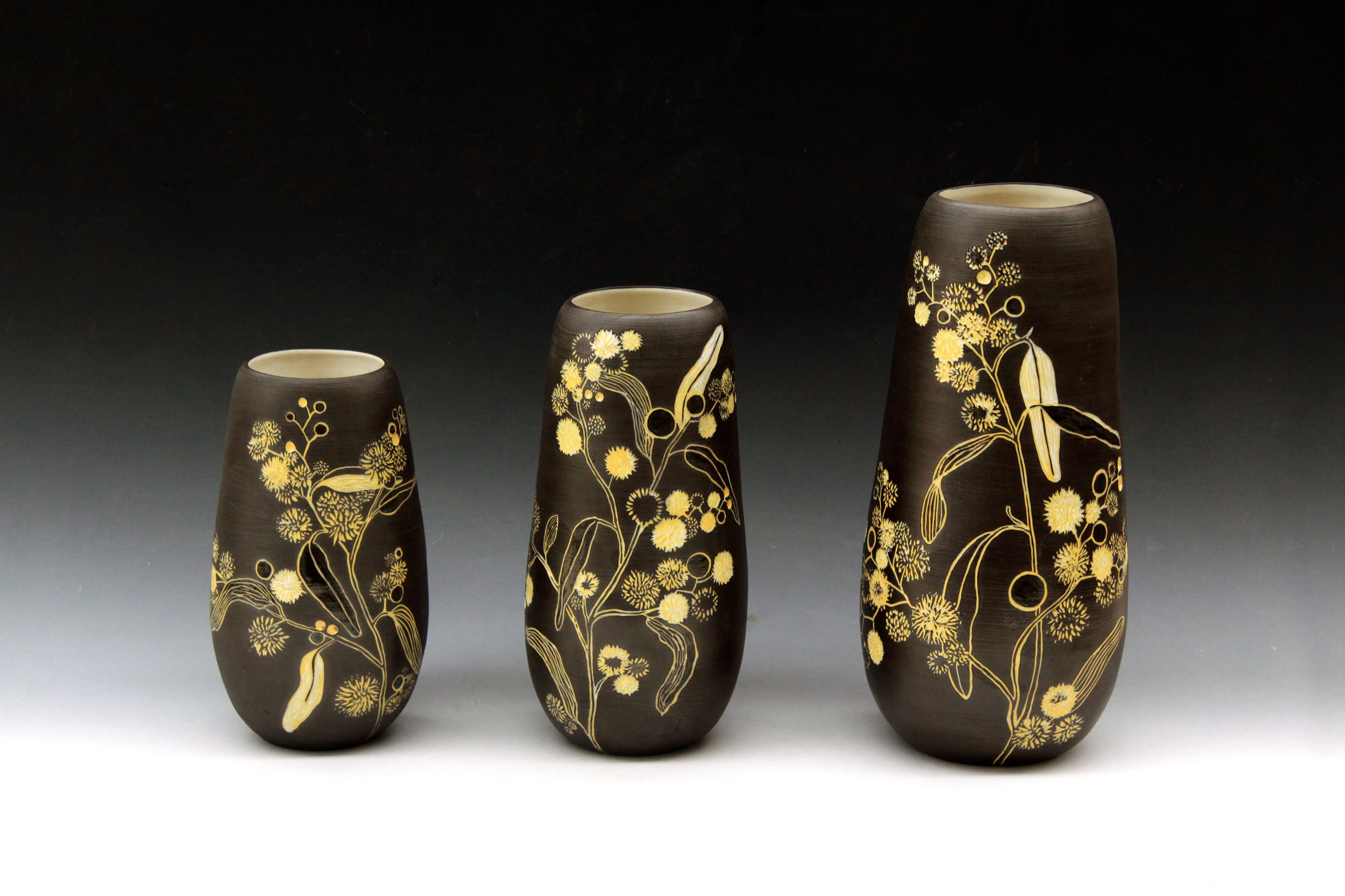 Native Botanical Vases- Golden Wattle