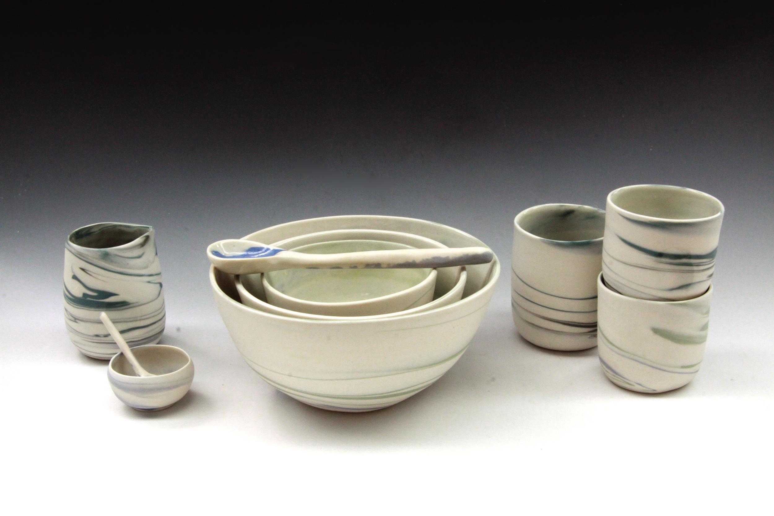 Handmade dining set, porcelain
